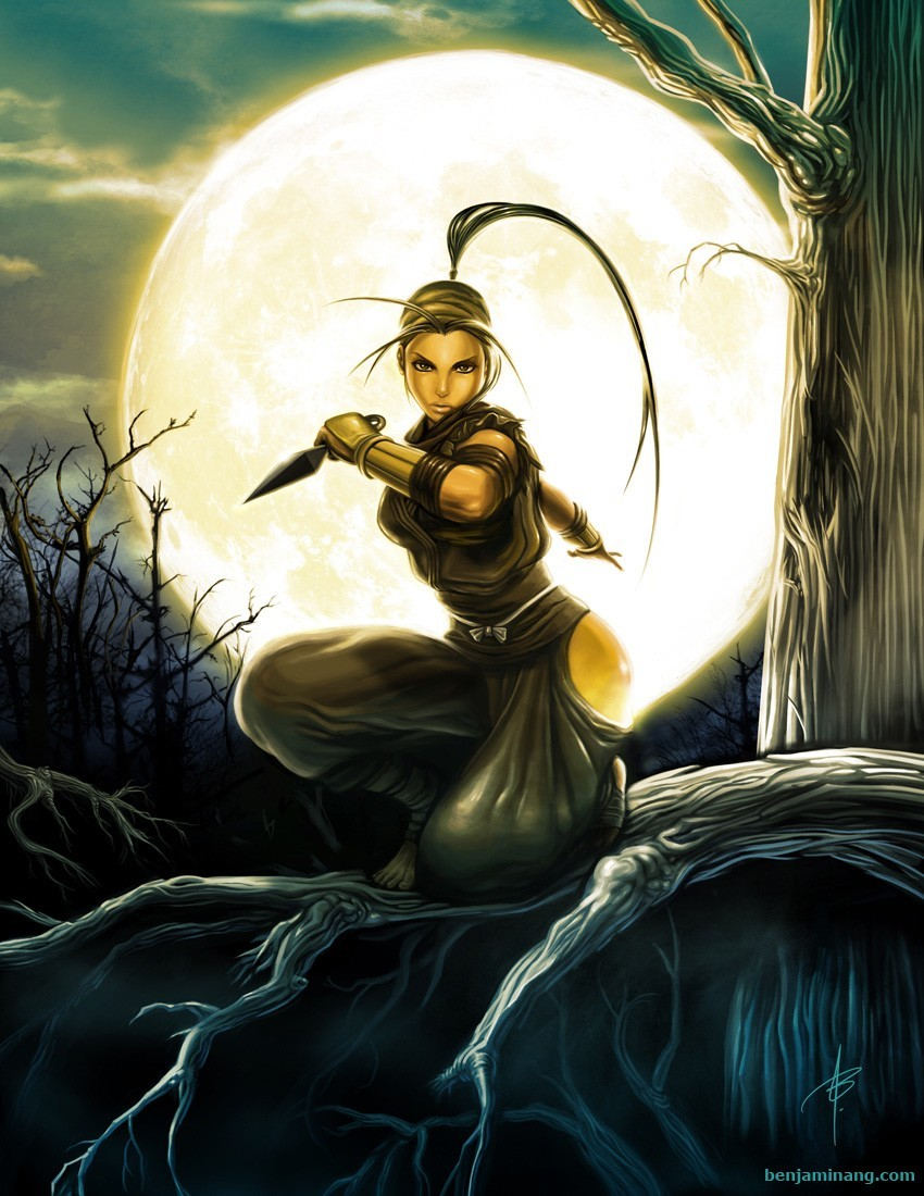street fighter Ibuki artwork HD Wallpaper