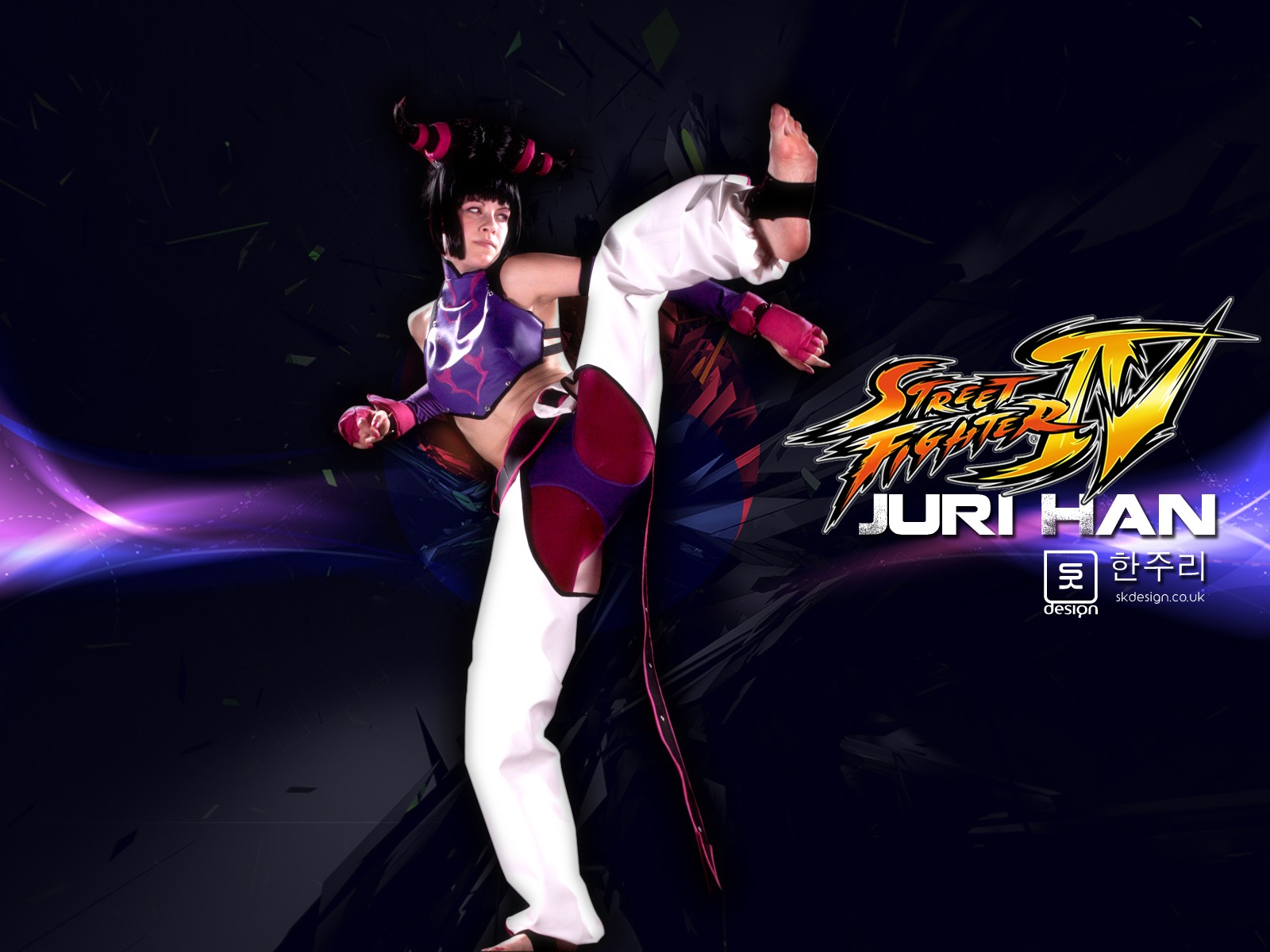 street fighter woman Juri HD Wallpaper
