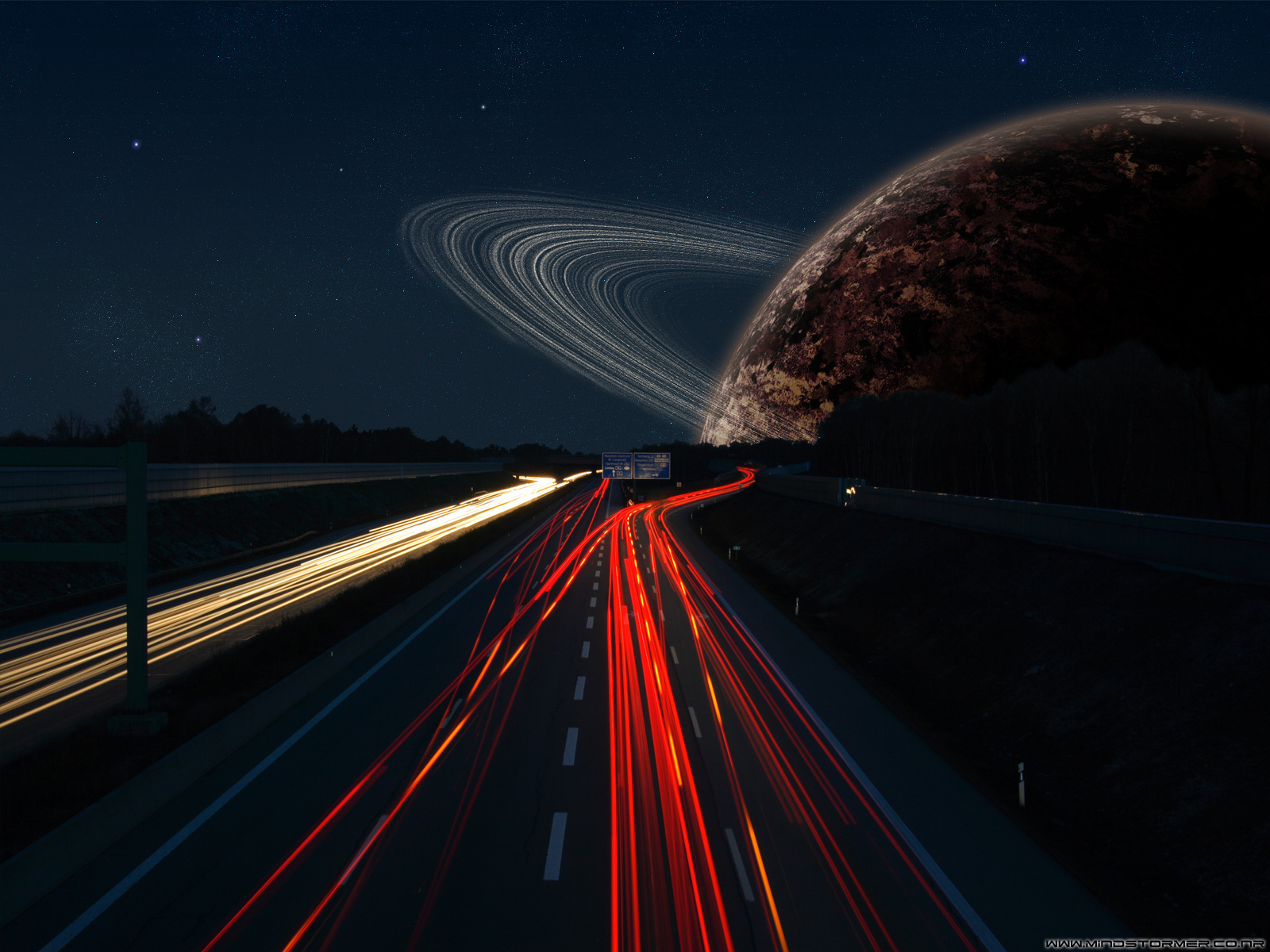 streets planets Space HD Wallpaper