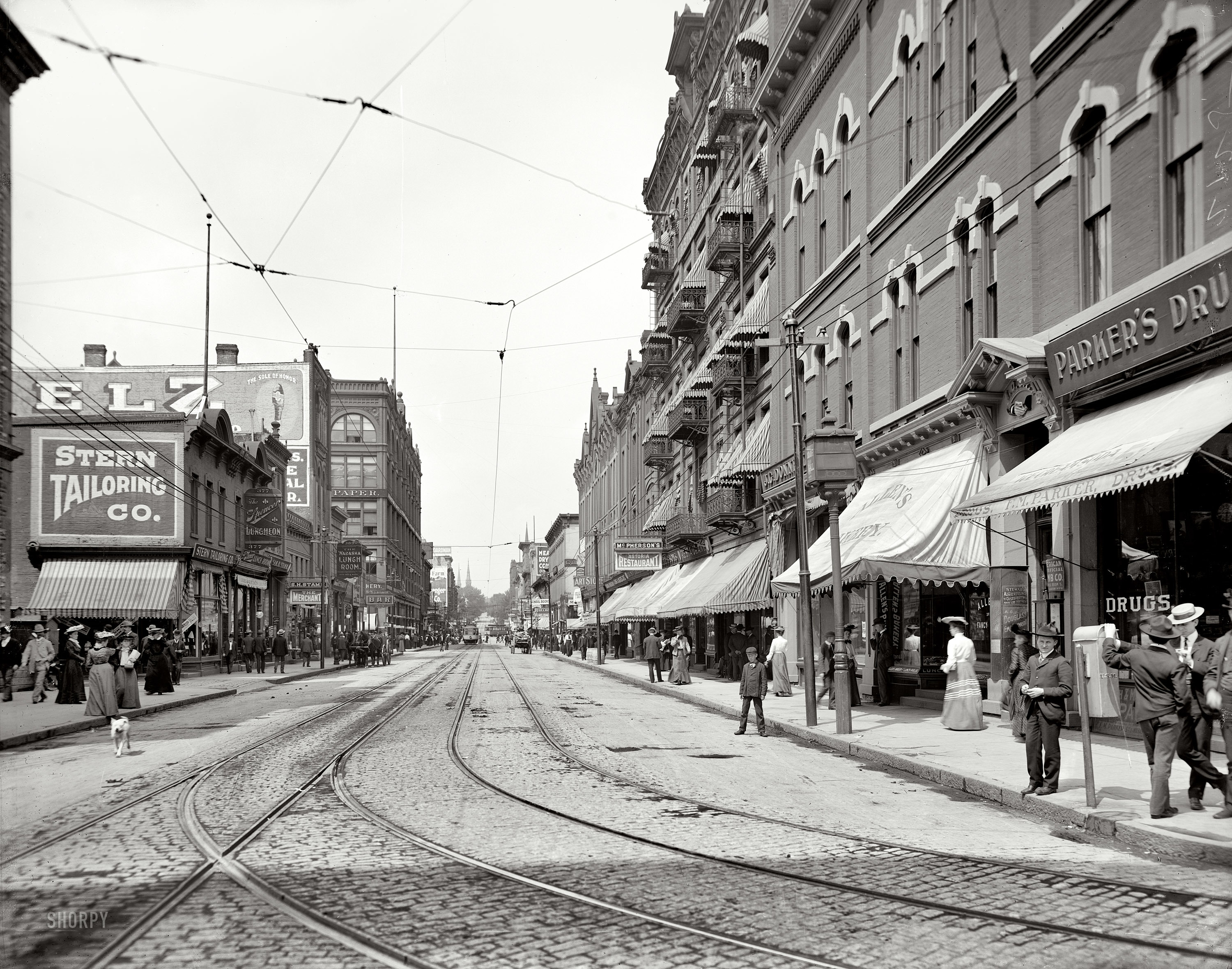 streets vintage grayscale monochrome HD Wallpaper