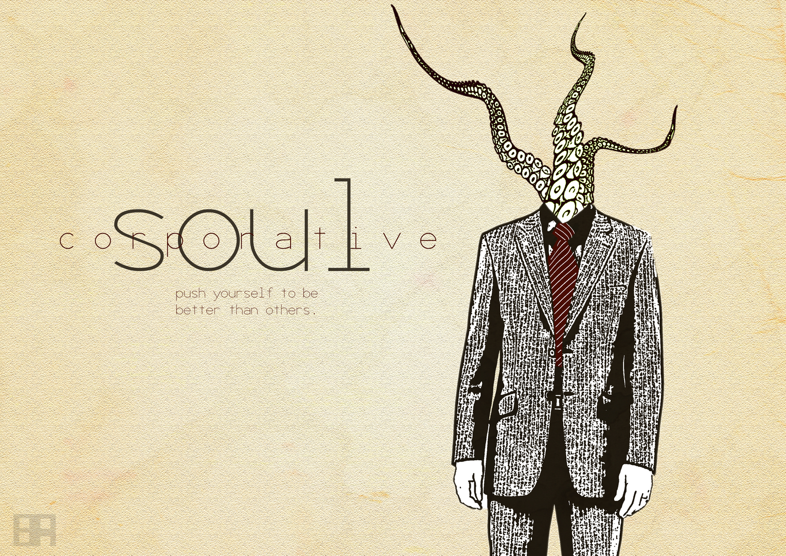suit tentacles tie Soul HD Wallpaper