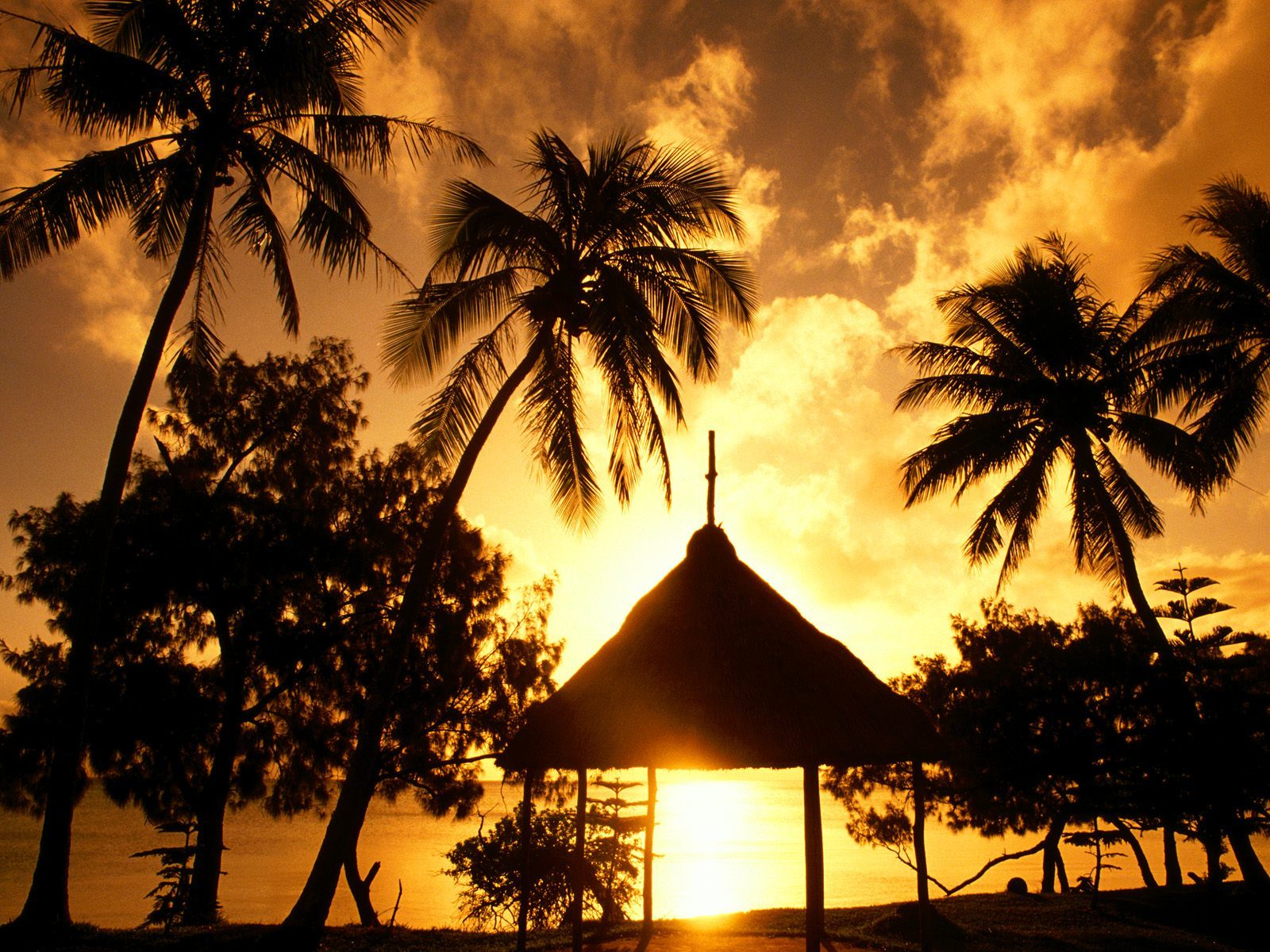 sun. dawn bay of HD Wallpaper