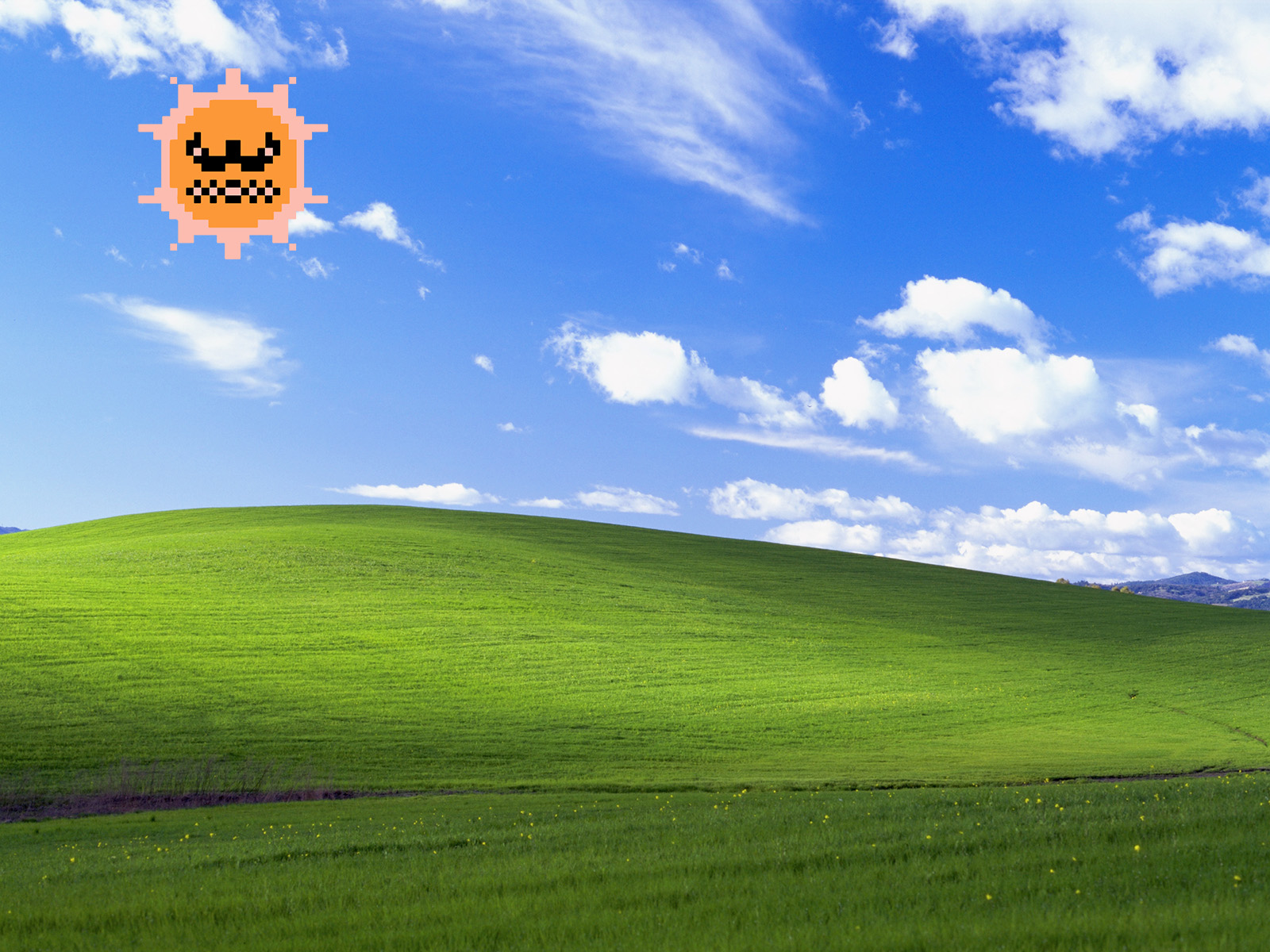 sun bliss mario bros super windows xp desktop 1600x1200 wallpaper 38944 Wallpapers windows xp bliss