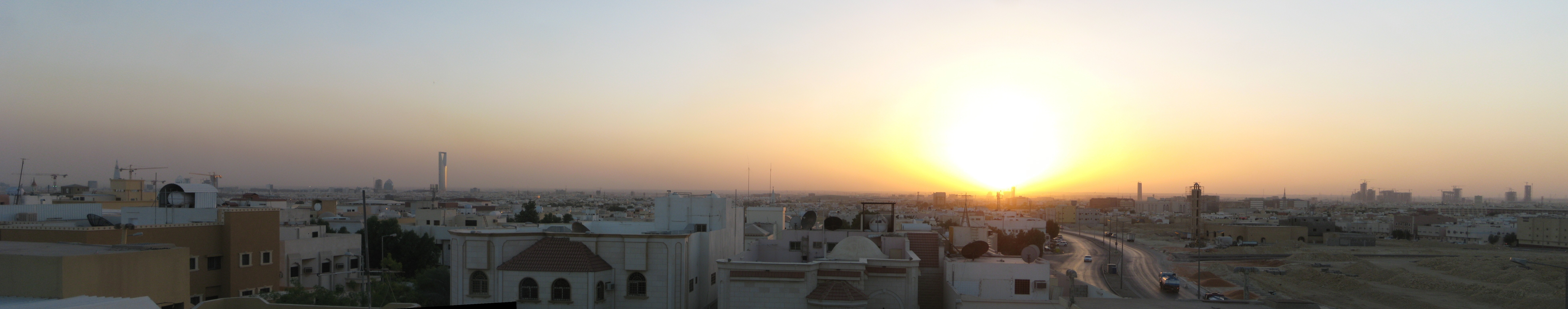 sunrise cityscapes panorama saudi HD Wallpaper