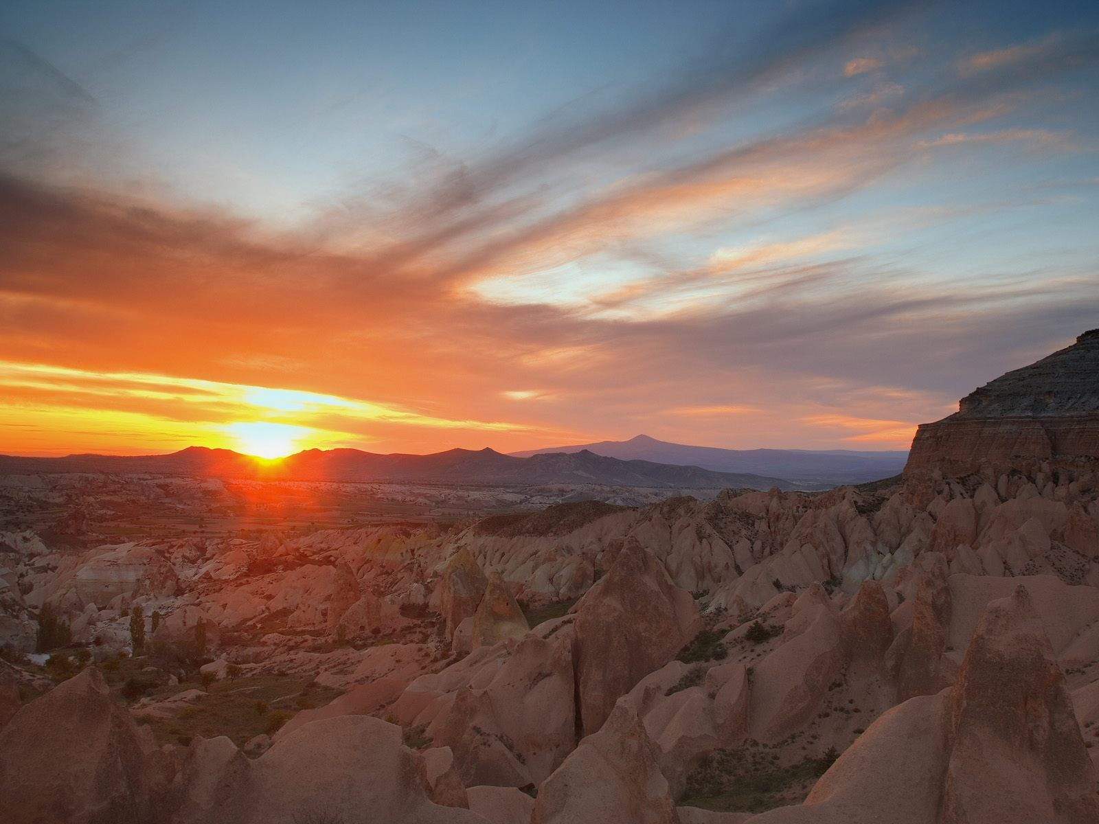 sunset badlands National Park HD Wallpaper
