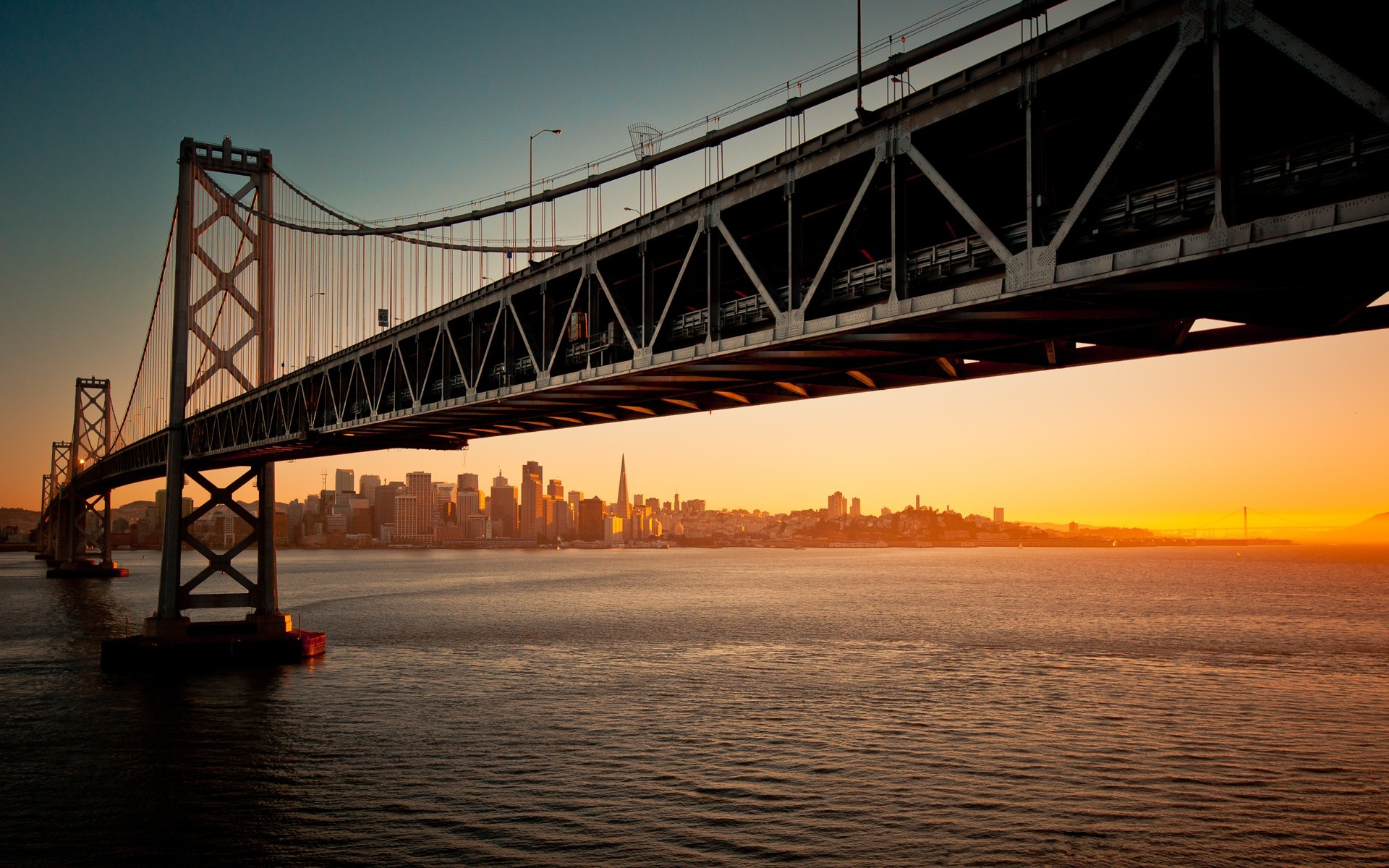 sunset cityscapes San Francisco HD Wallpaper