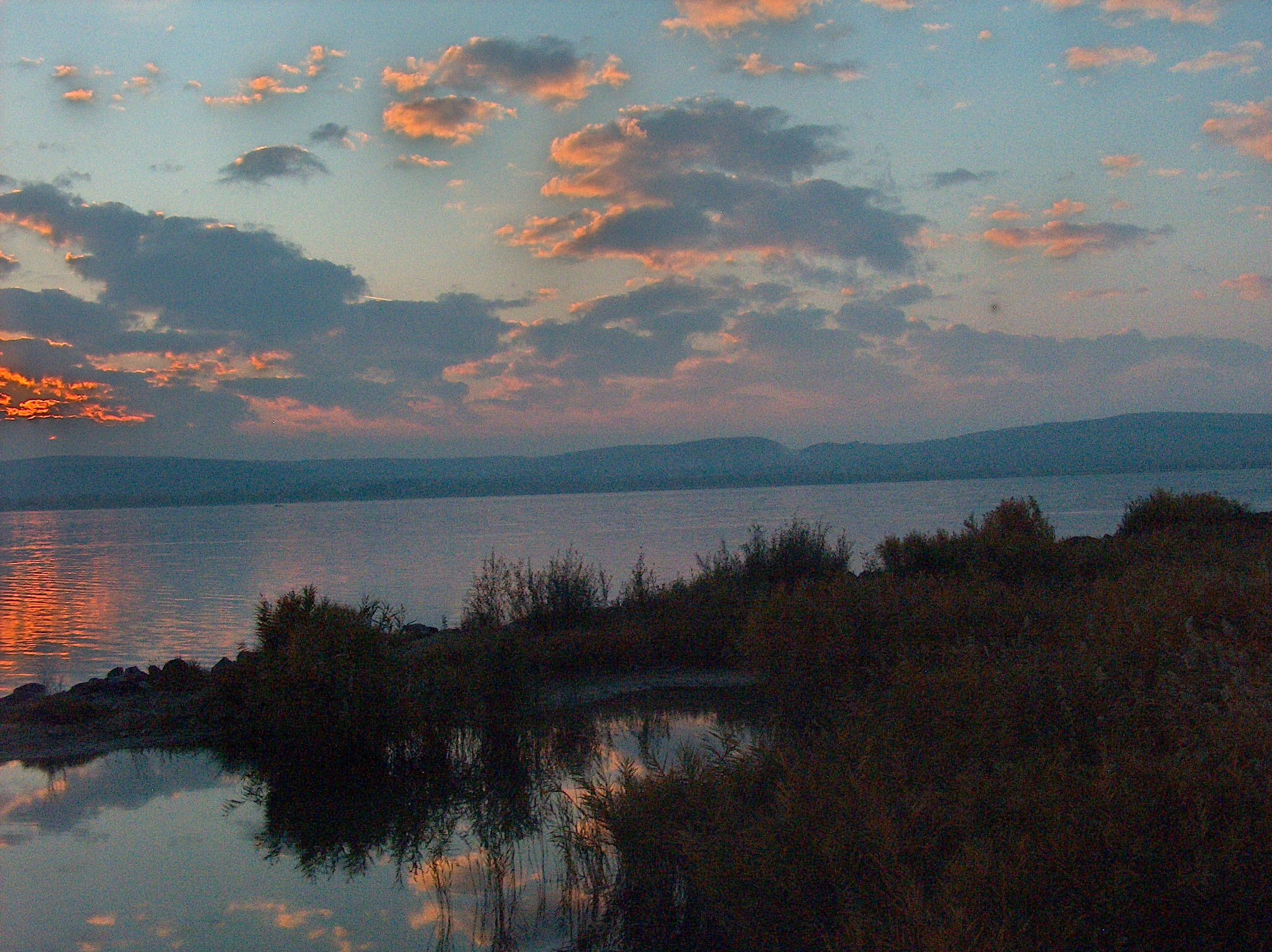 sunset clouds hungary Lake Balaton HD Wallpaper