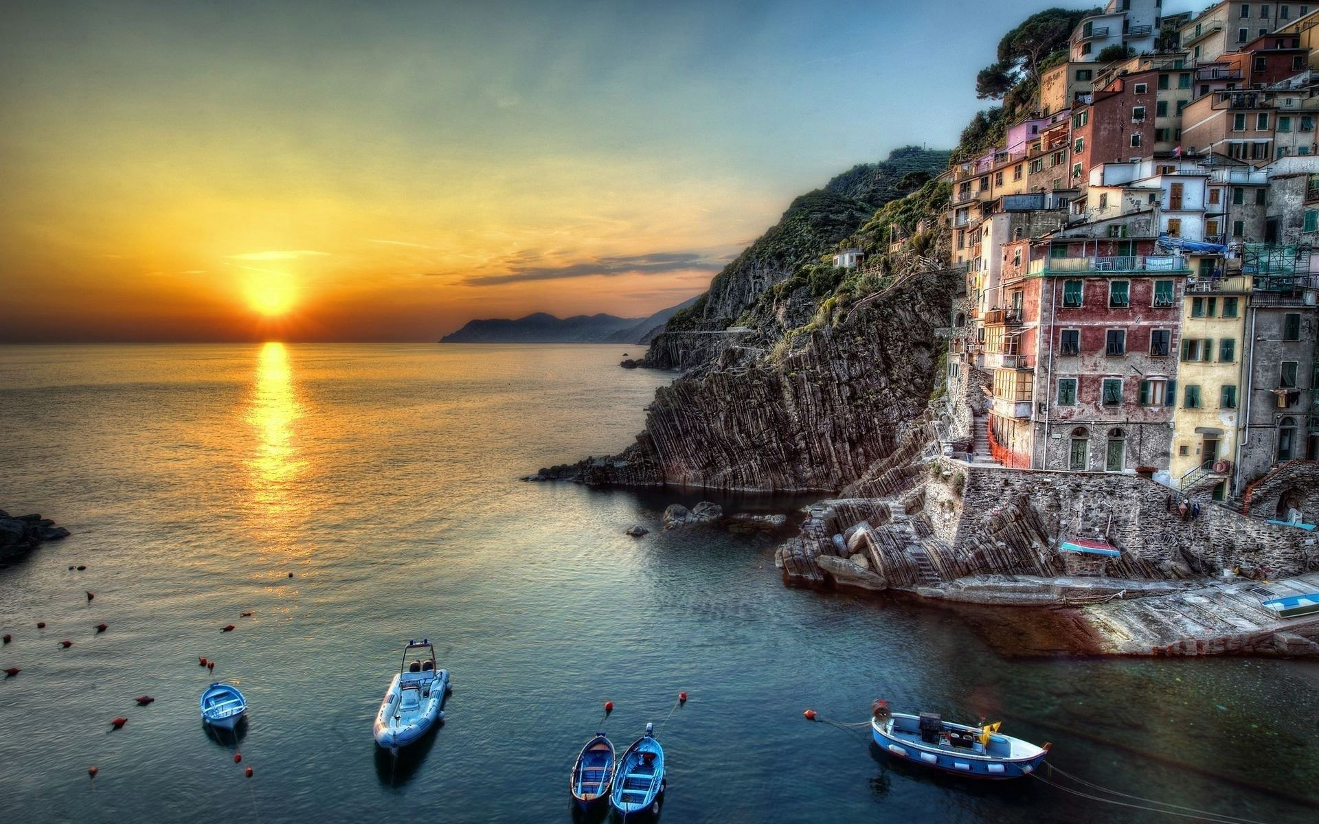 sunset Italy HD Wallpaper