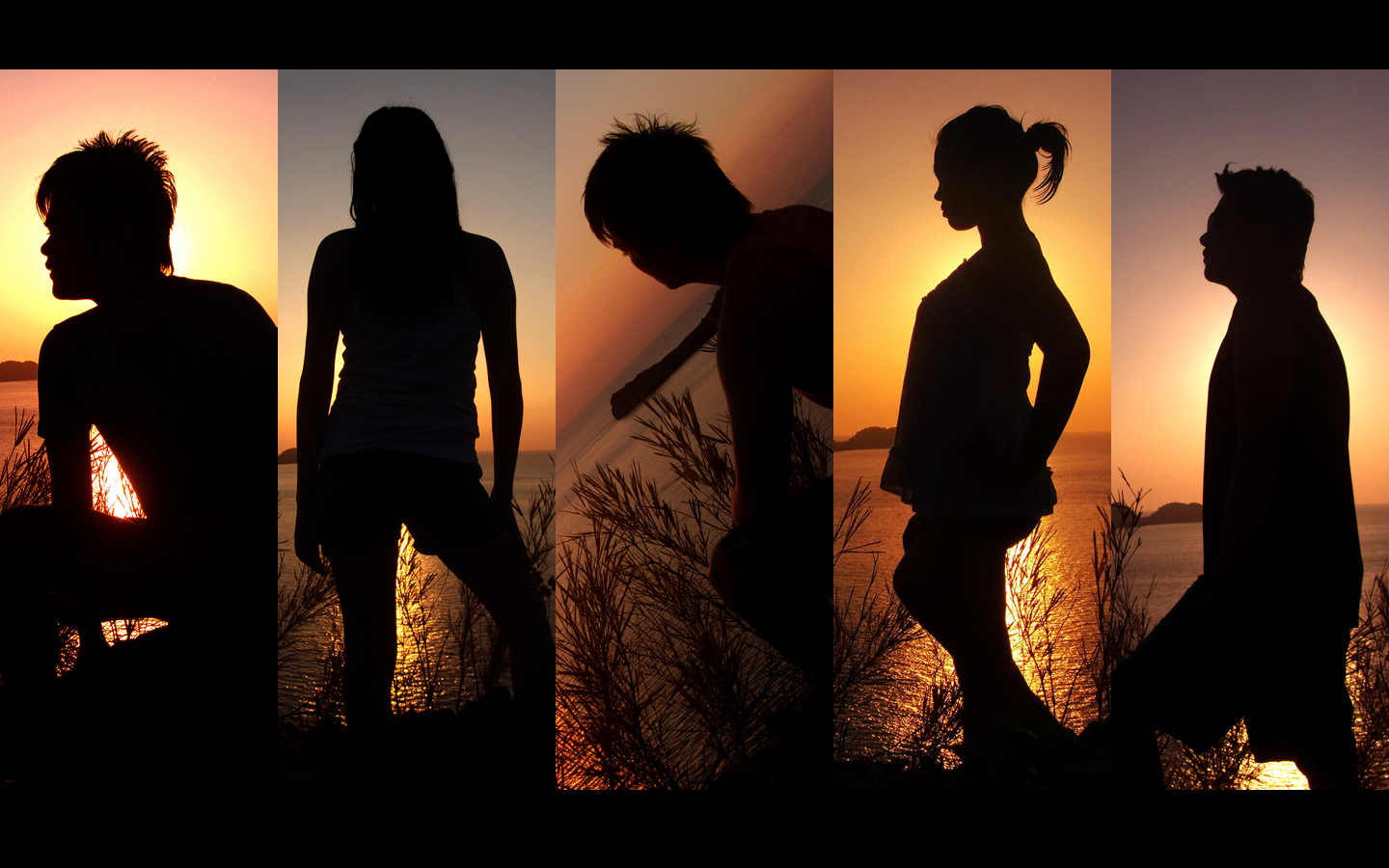 sunset silhouettes by countocram HD Wallpaper