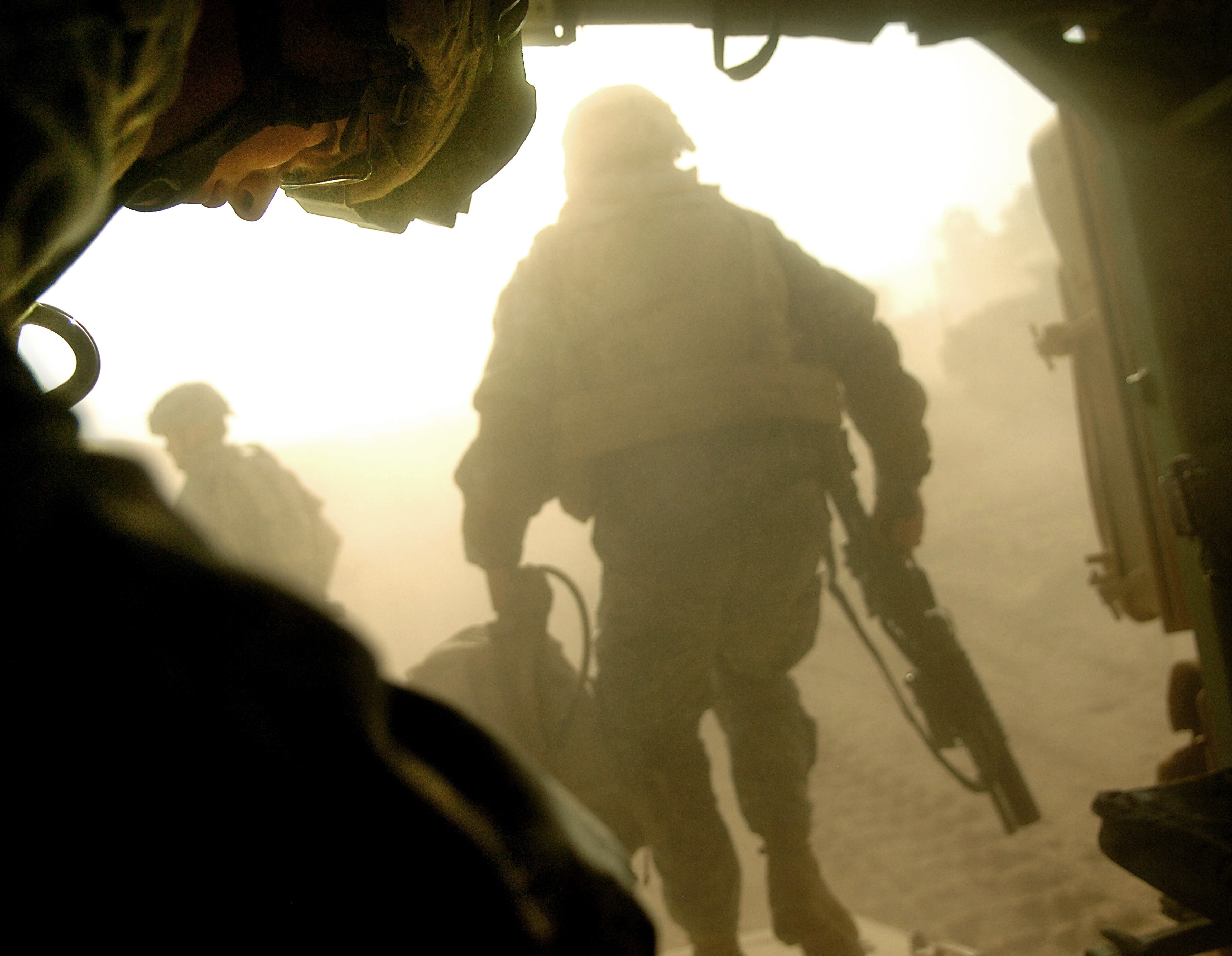 sunset soldiers military dust HD Wallpaper