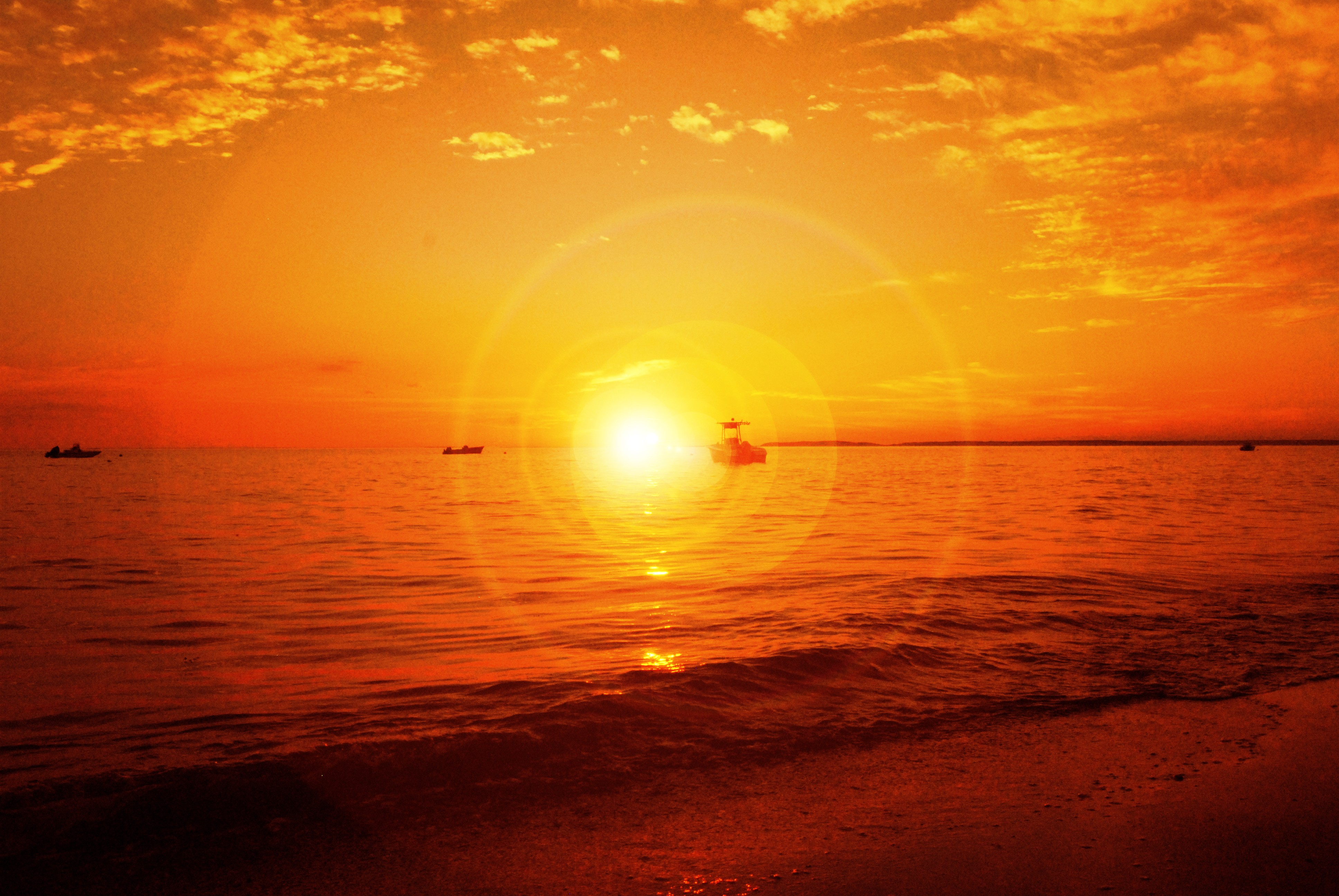 sunset sun orange abc HD Wallpaper