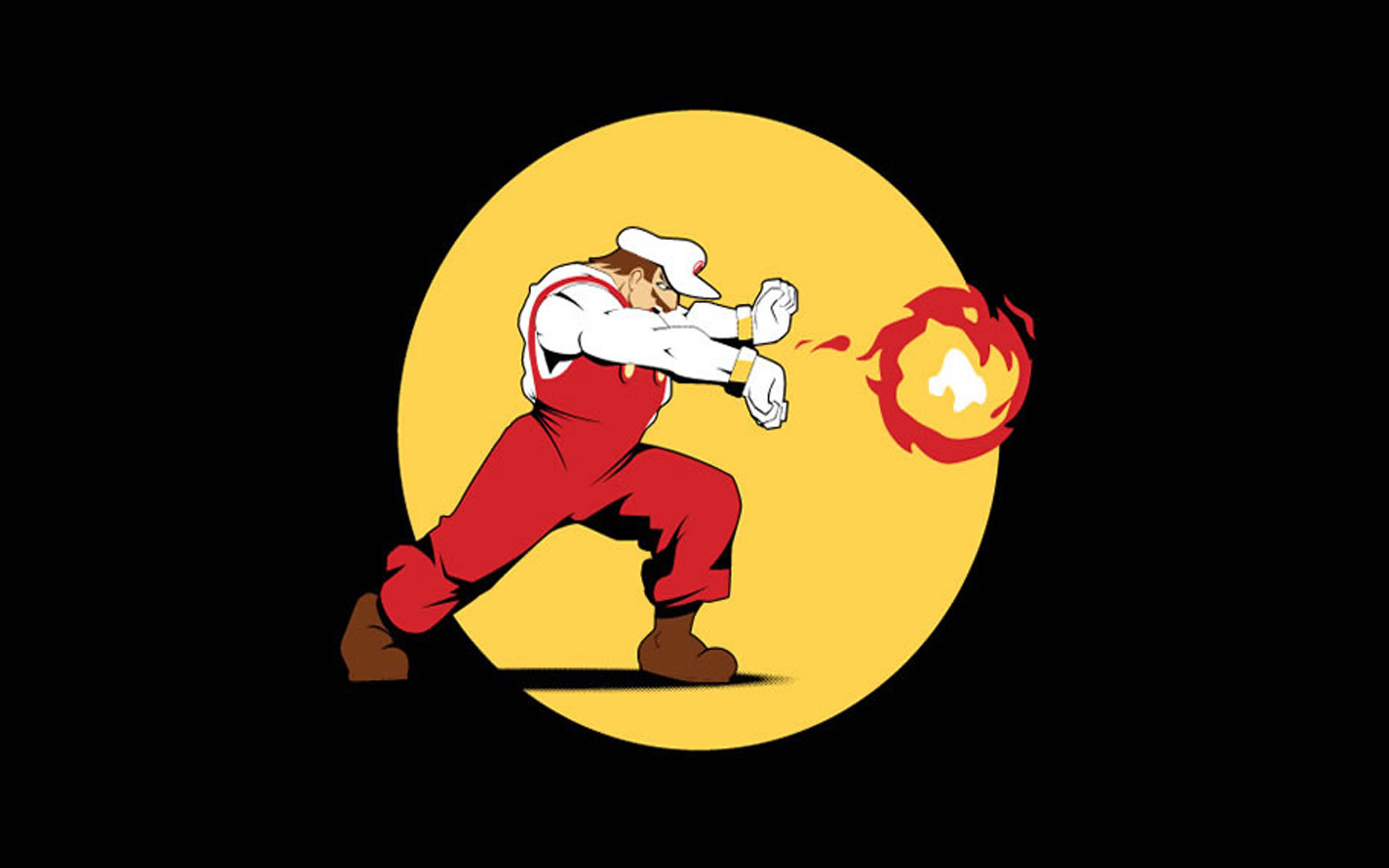 Super Mario cartoonish hadouken HD Wallpaper