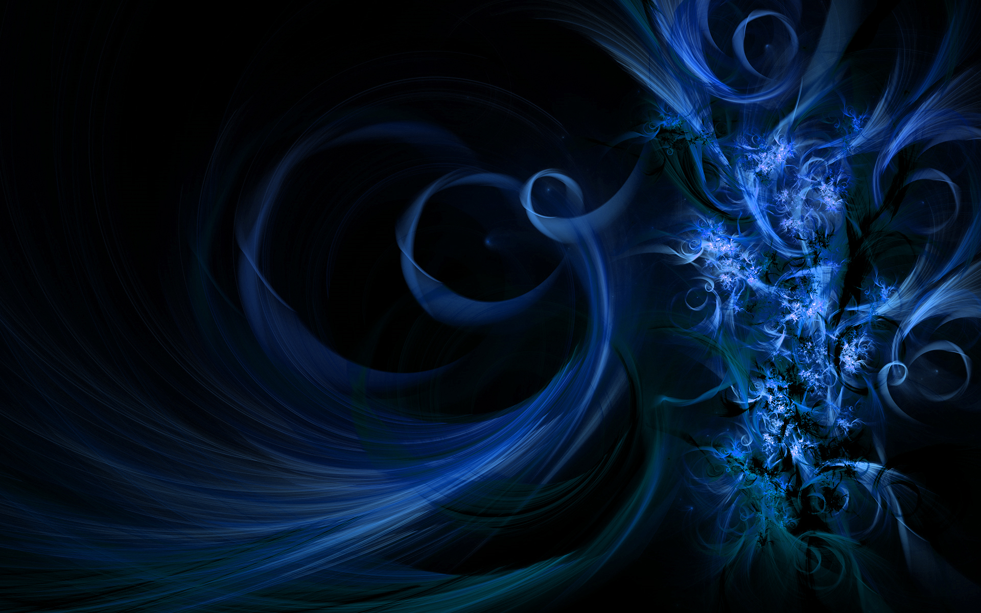 swirly blue widescreen abstract HD Wallpaper