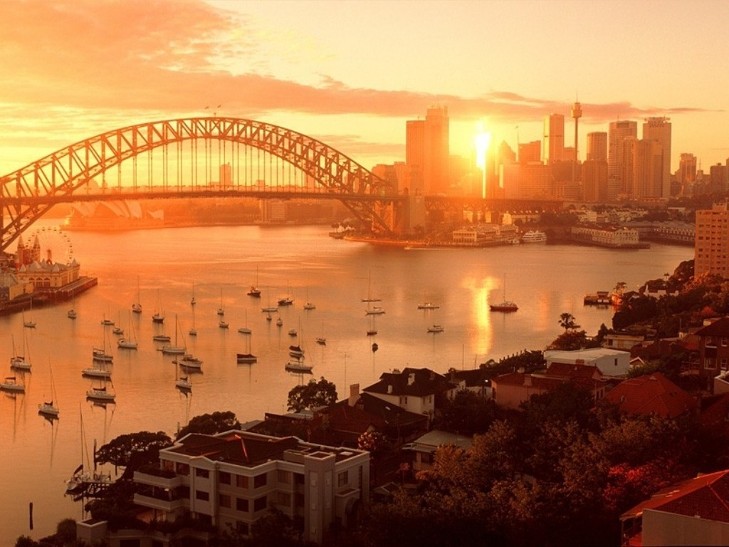 Sydney Harbour Bridge City HD Wallpaper