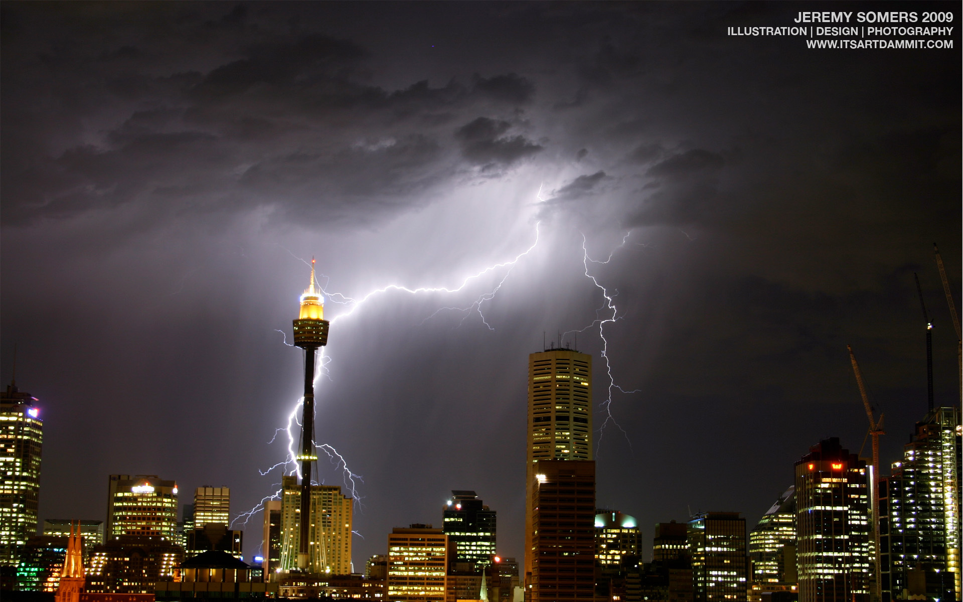 Sydney Lightning Ray thunder HD Wallpaper