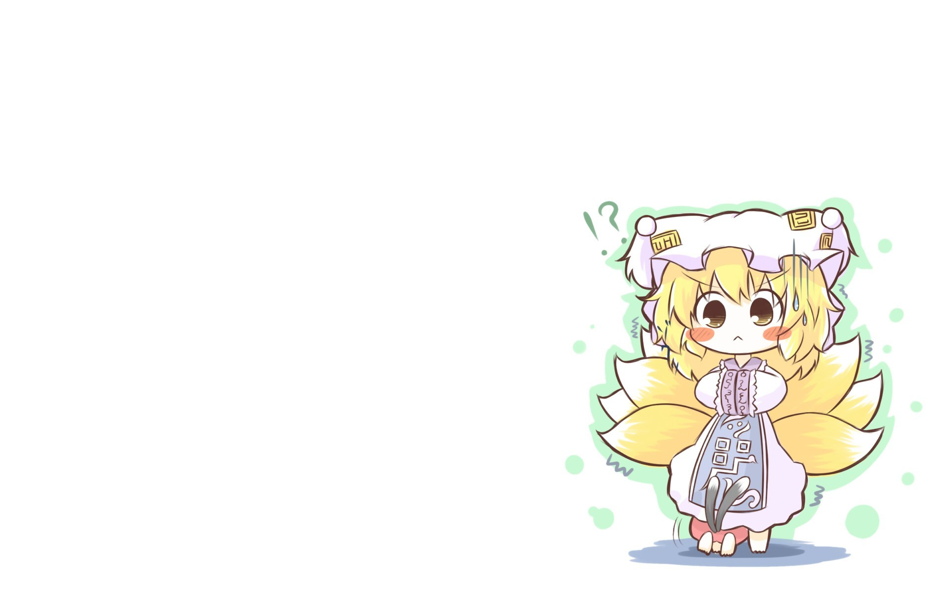 tails touhou dress Chibi HD Wallpaper
