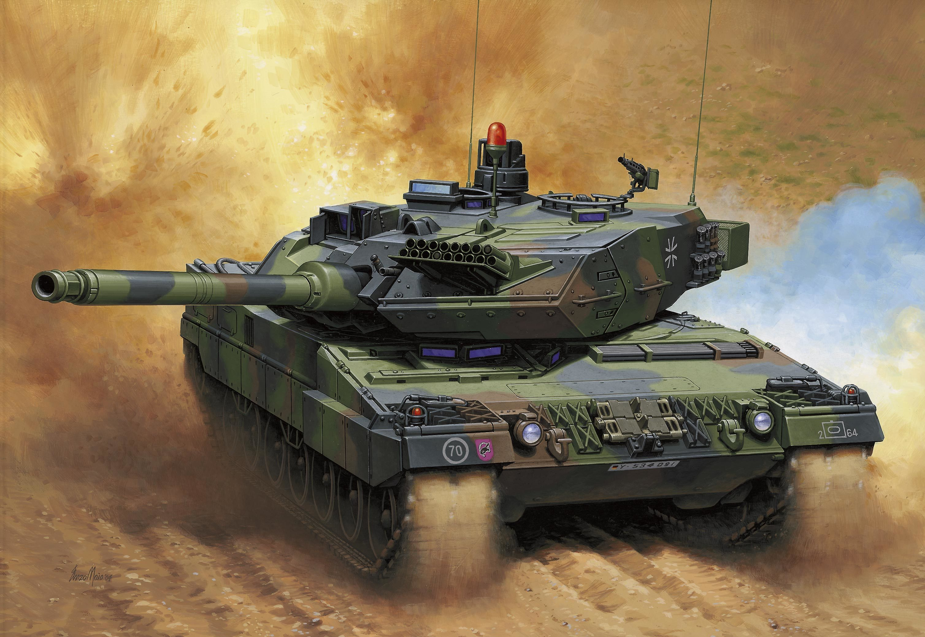 tanks artwork Bundeswehr Leopard HD Wallpaper
