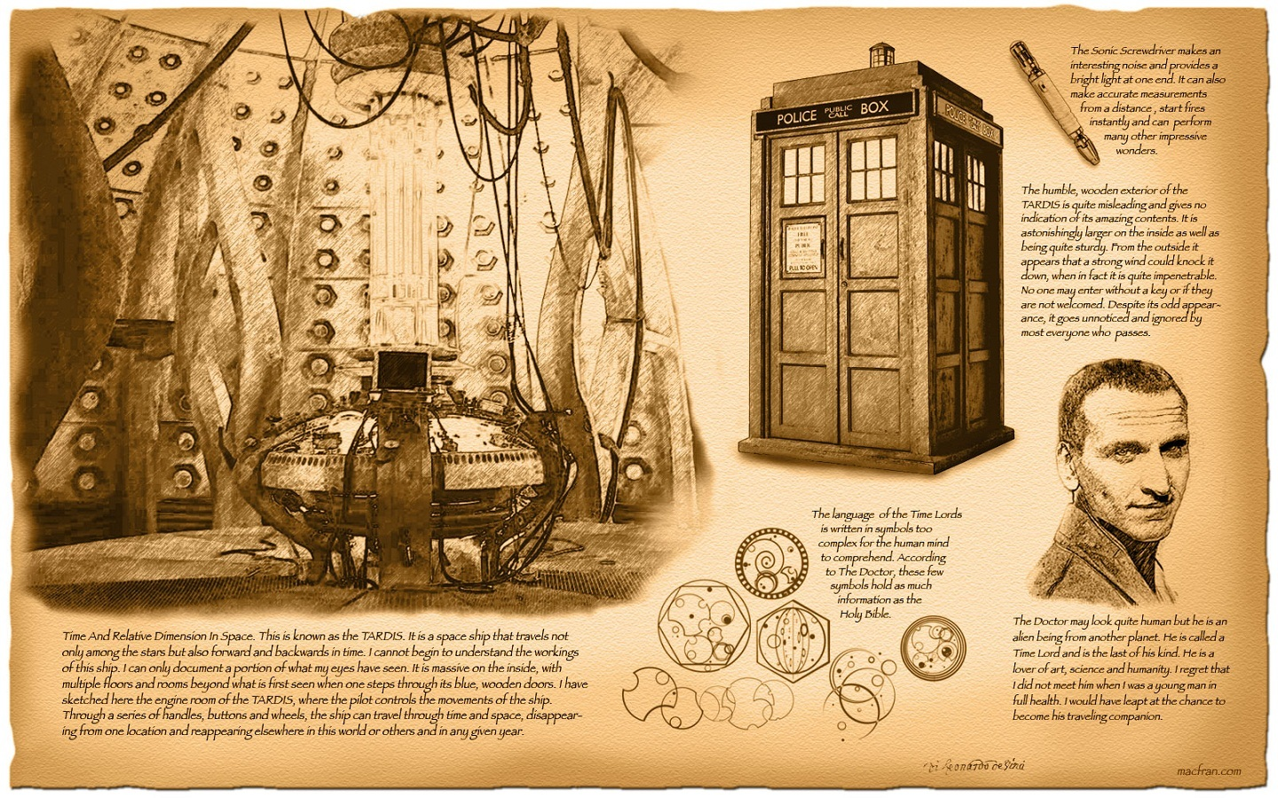 tardis sepia Information Doctor HD Wallpaper