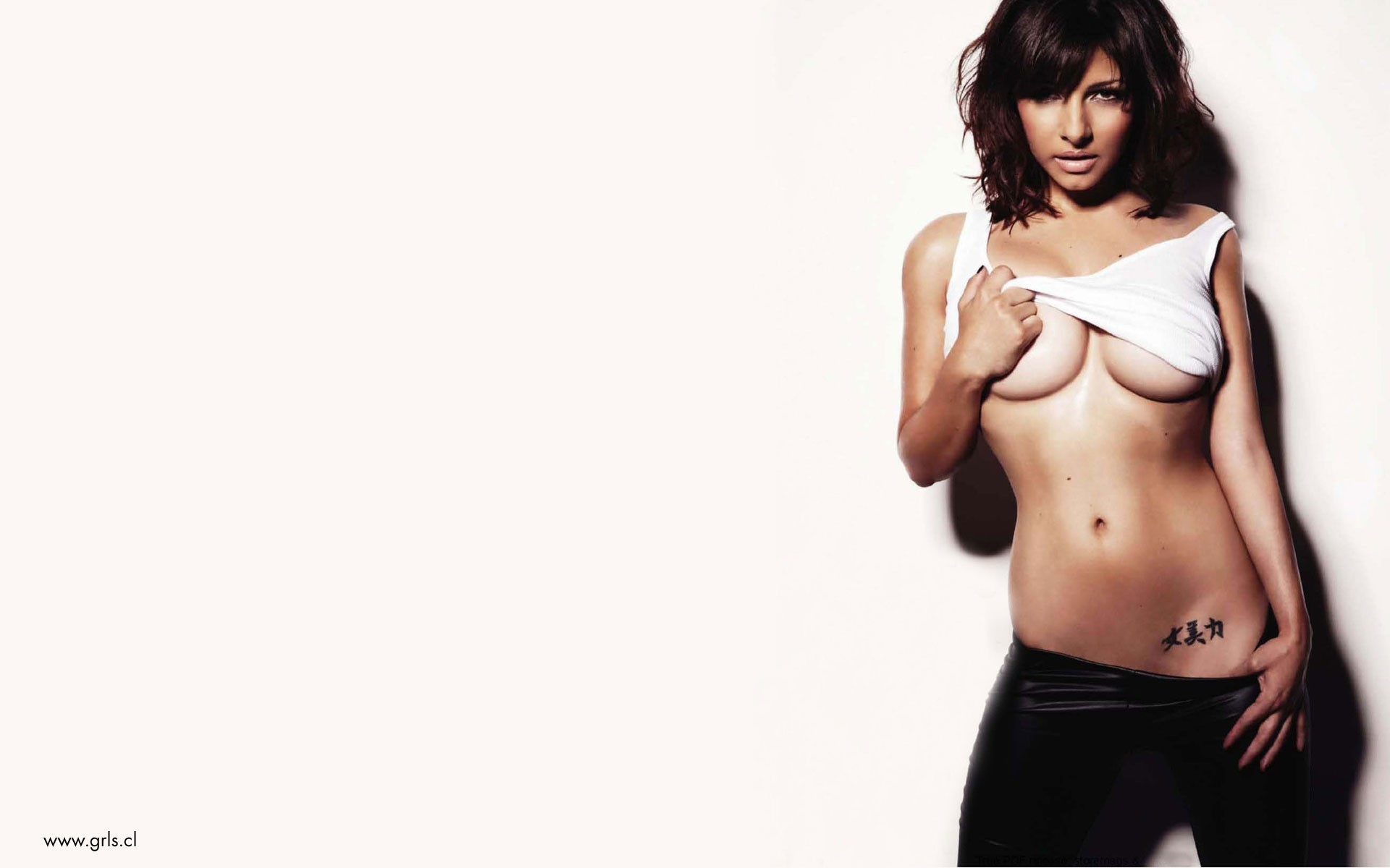 tattoos woman Roxanne Pallett HD Wallpaper