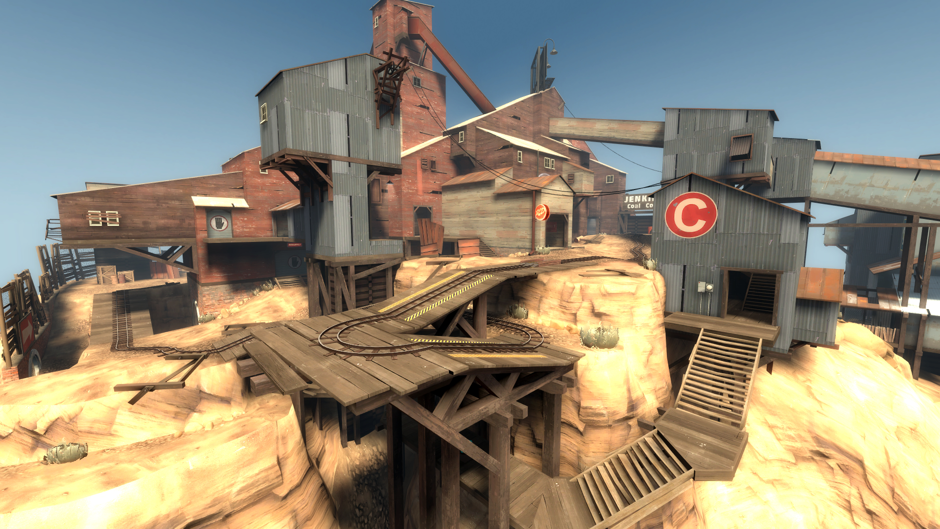 Team fortress architecture HD Wallpaper