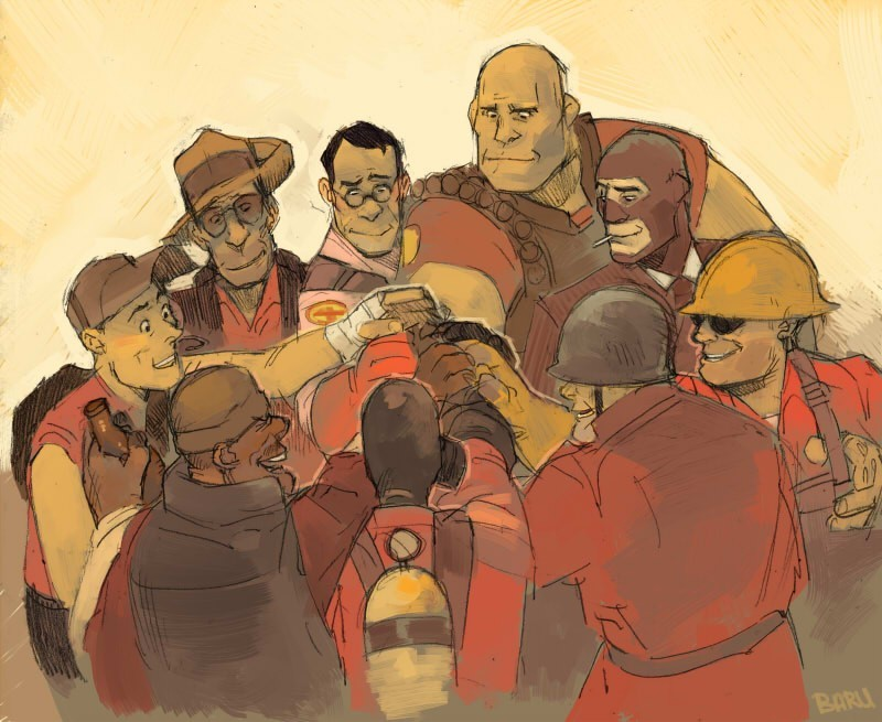 Team spirit team fortress HD Wallpaper