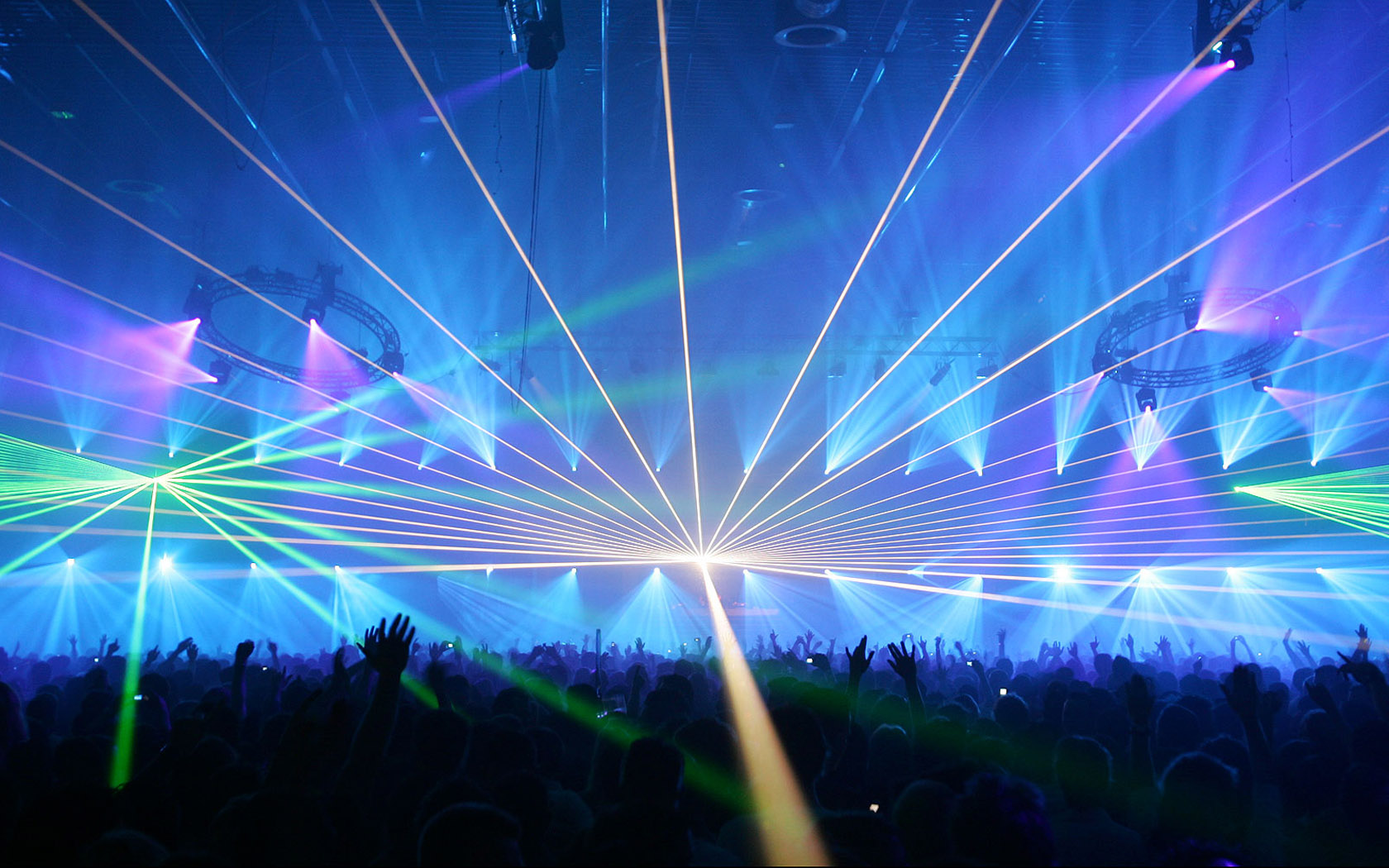 Techno rave Lasers HD Wallpaper