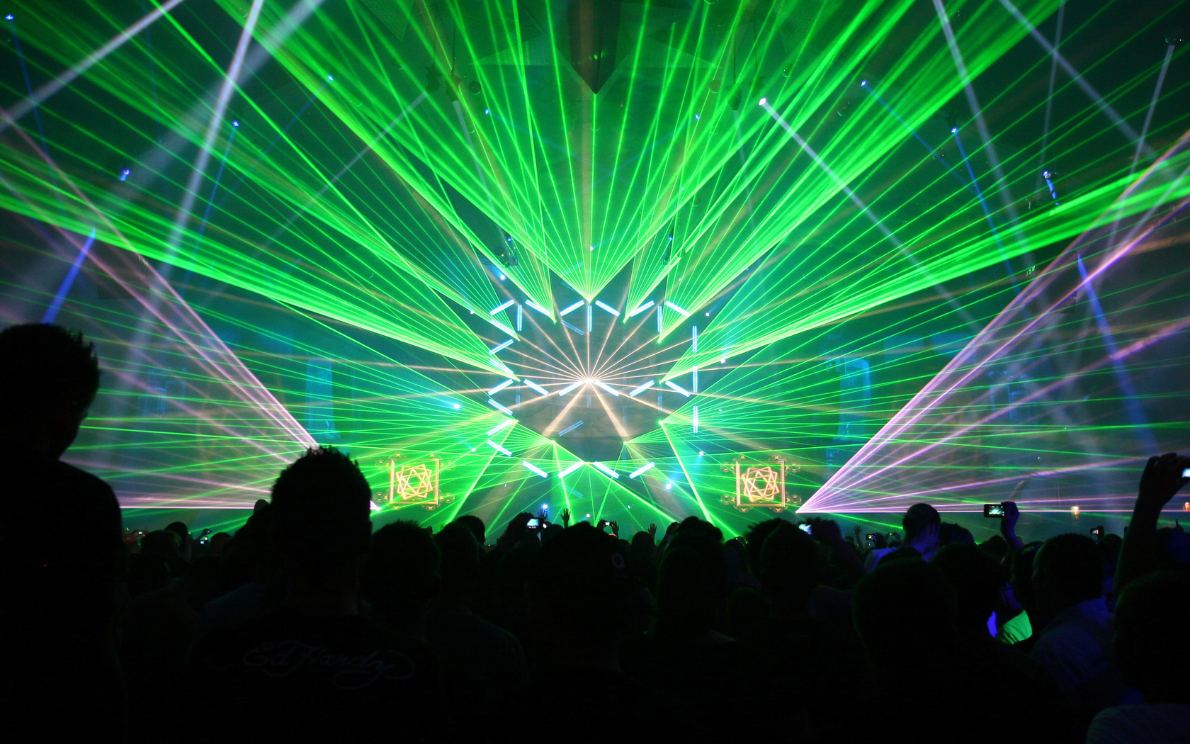 Techno rave Lasers light HD Wallpaper