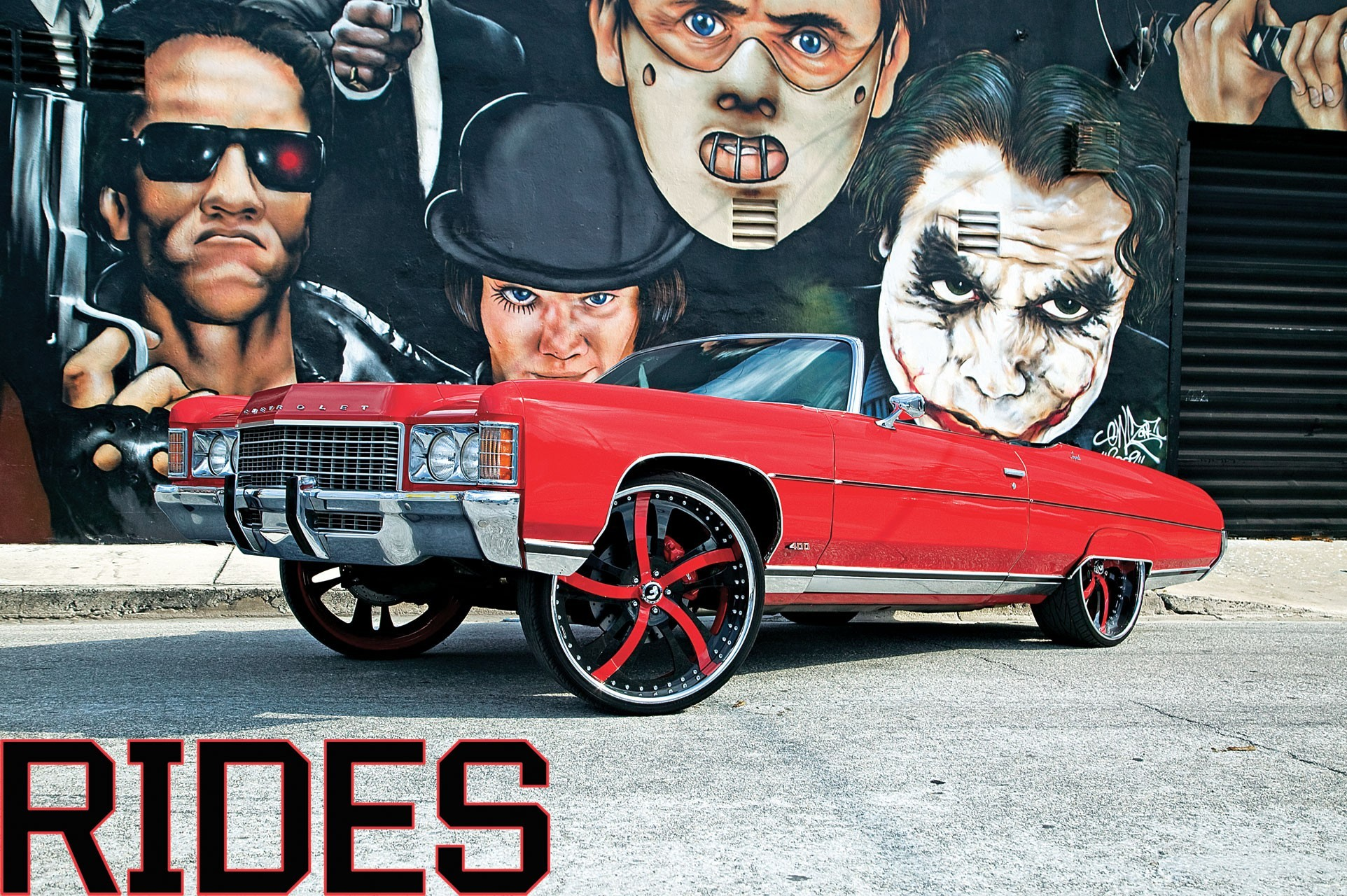 terminator graffiti Chevrolet lowriders HD Wallpaper
