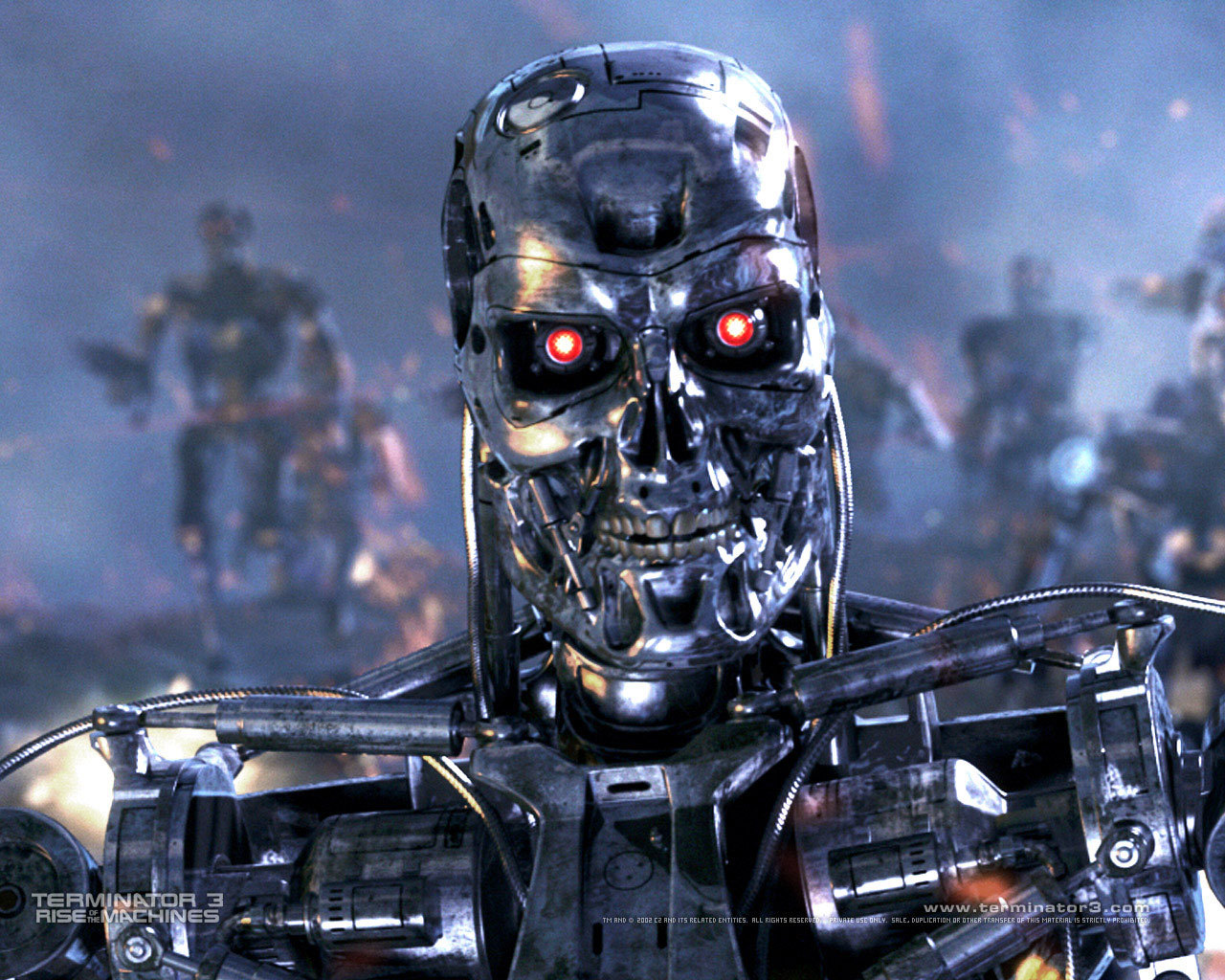 terminator Robots Machines HD Wallpaper