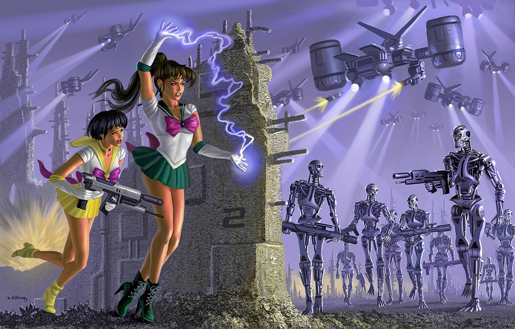 terminator sailor moon HD Wallpaper