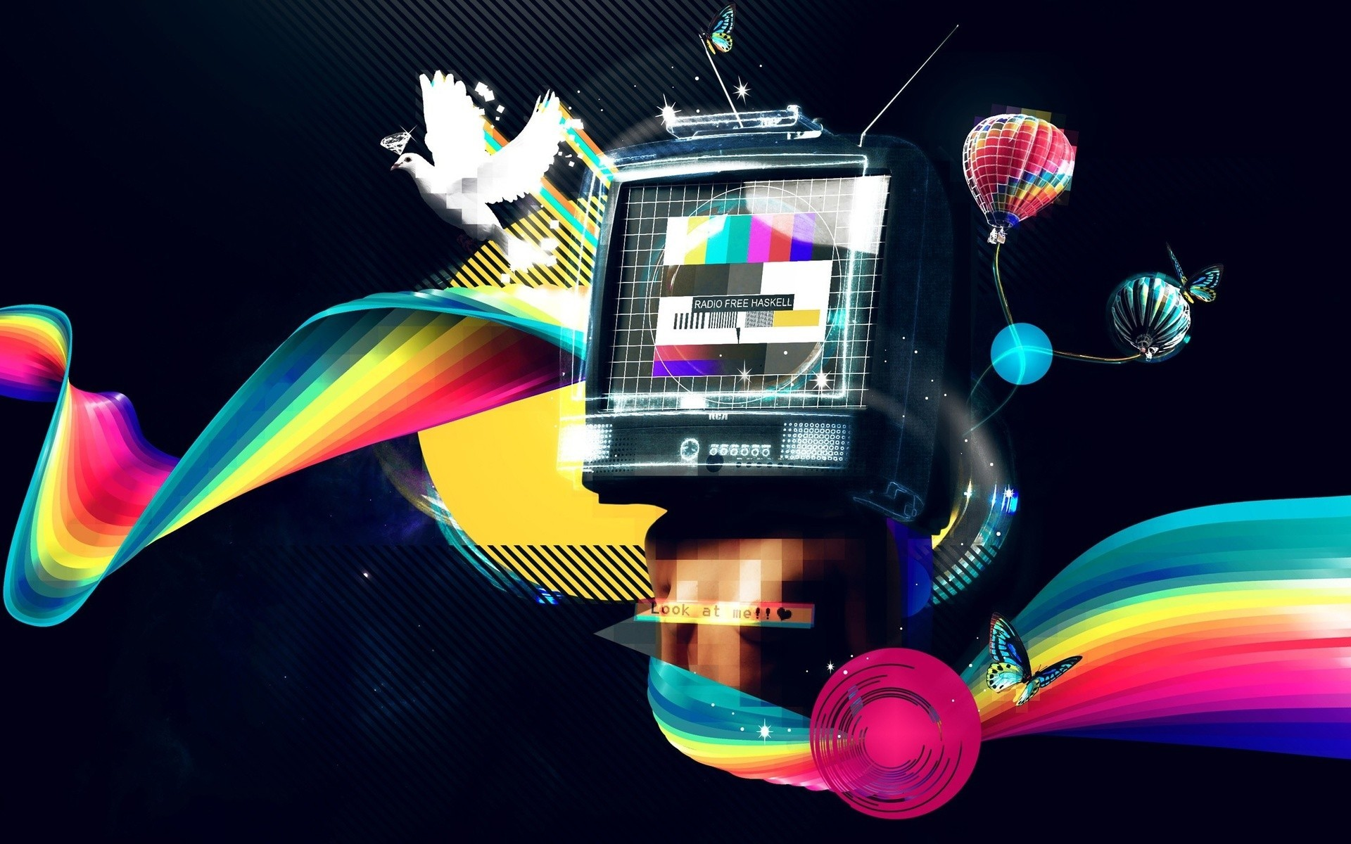 test pattern abstract multicolor HD Wallpaper