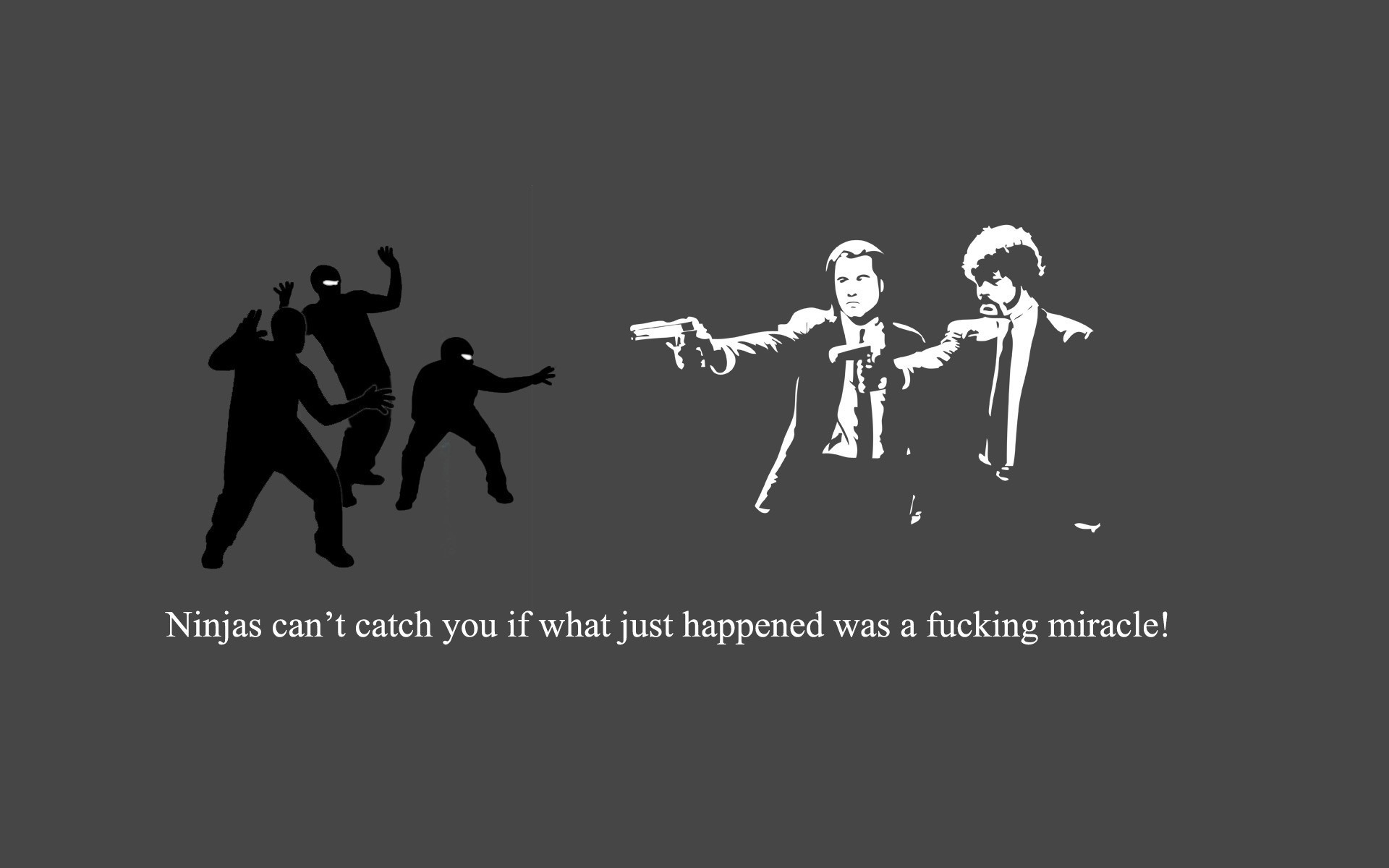 text Pulp Fiction ninjas HD Wallpaper