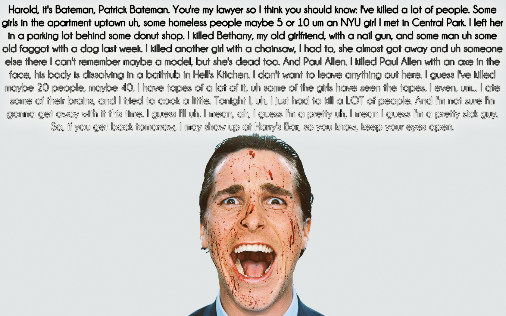 text Quotes American Psycho HD Wallpaper