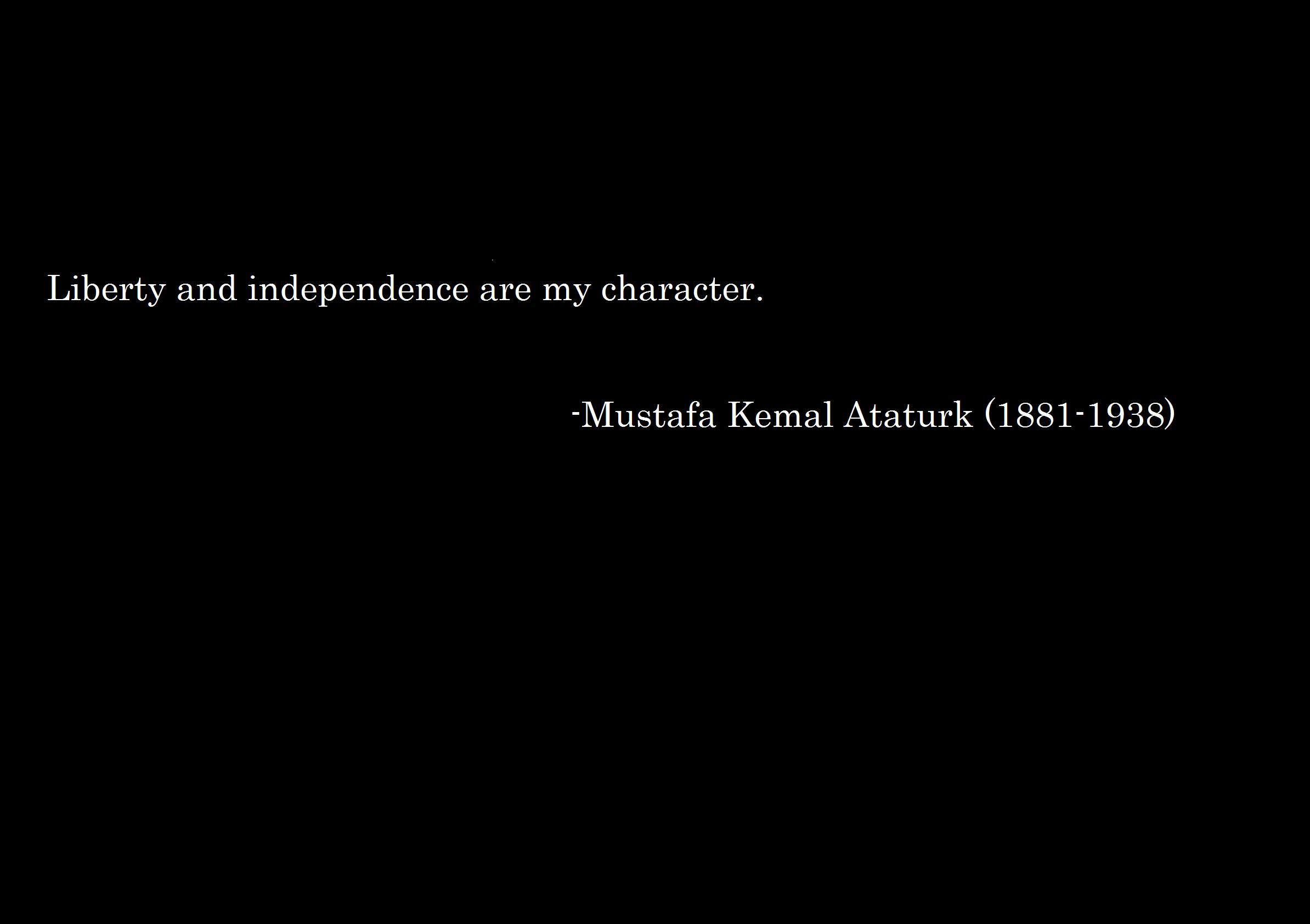 text Quotes Ataturk turkish HD Wallpaper