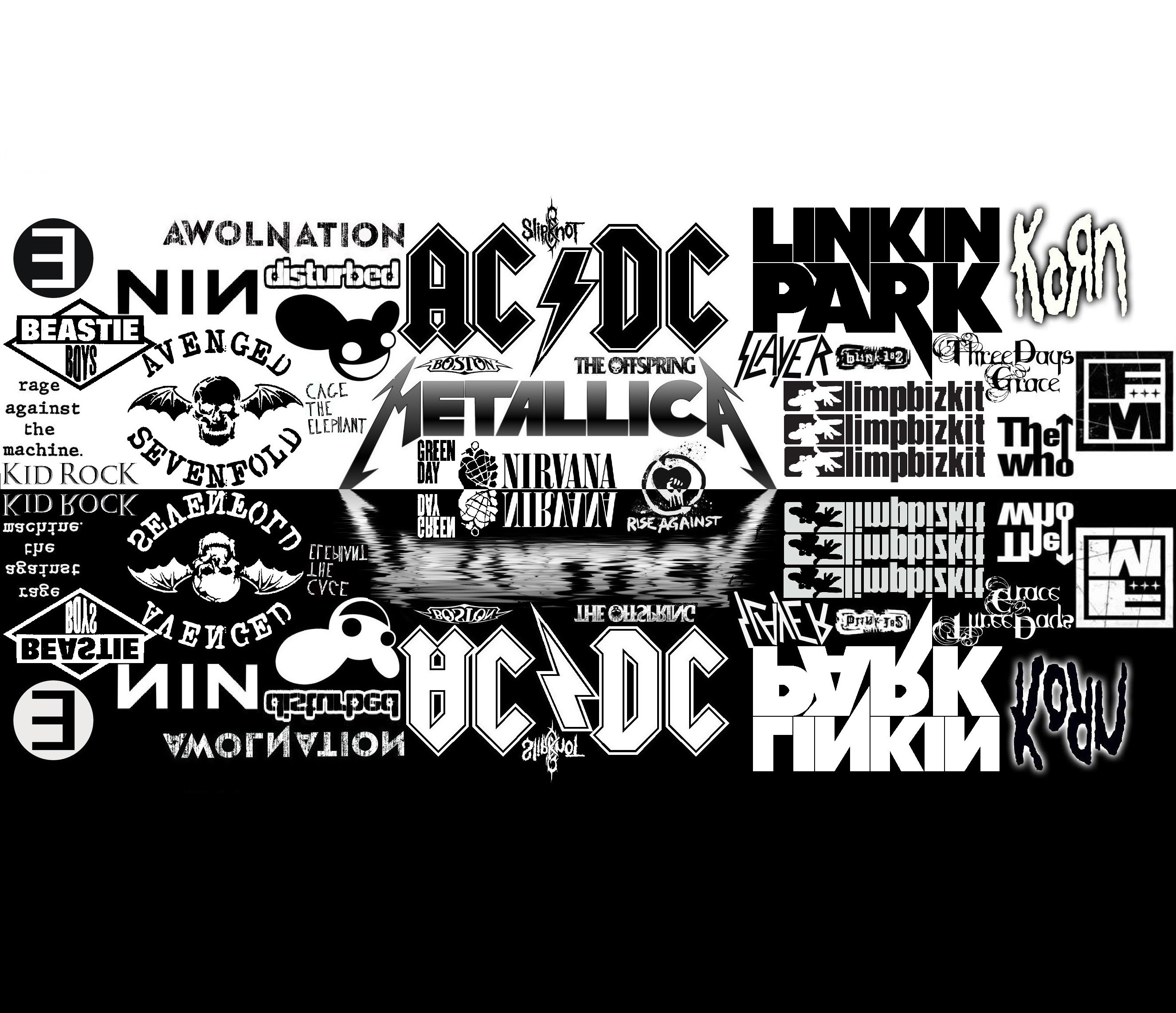 text Rock Music monochrome HD Wallpaper