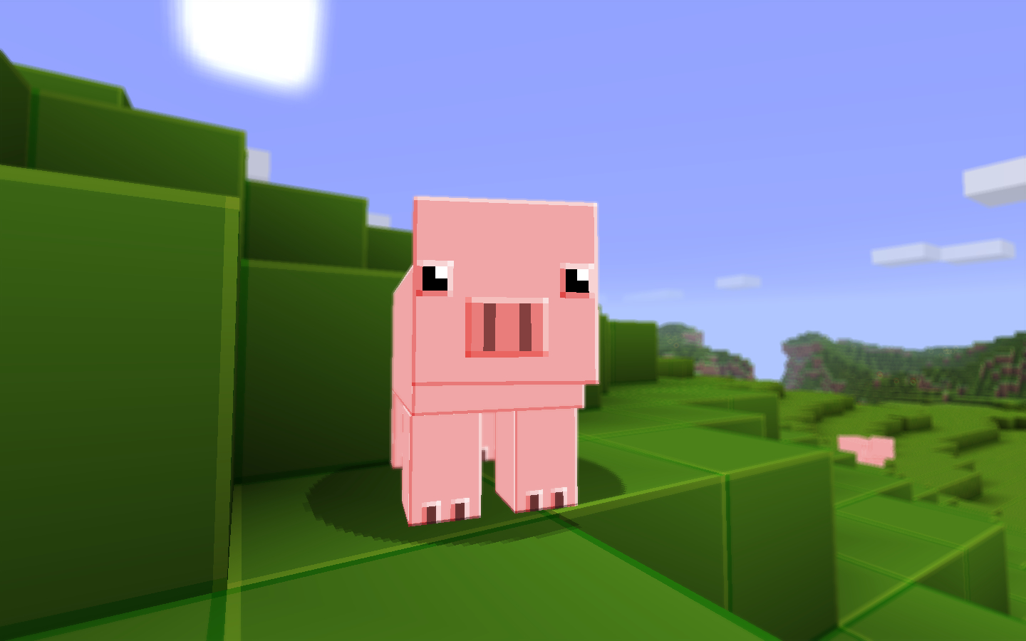 Textures minecraft pigs pig HD Wallpaper