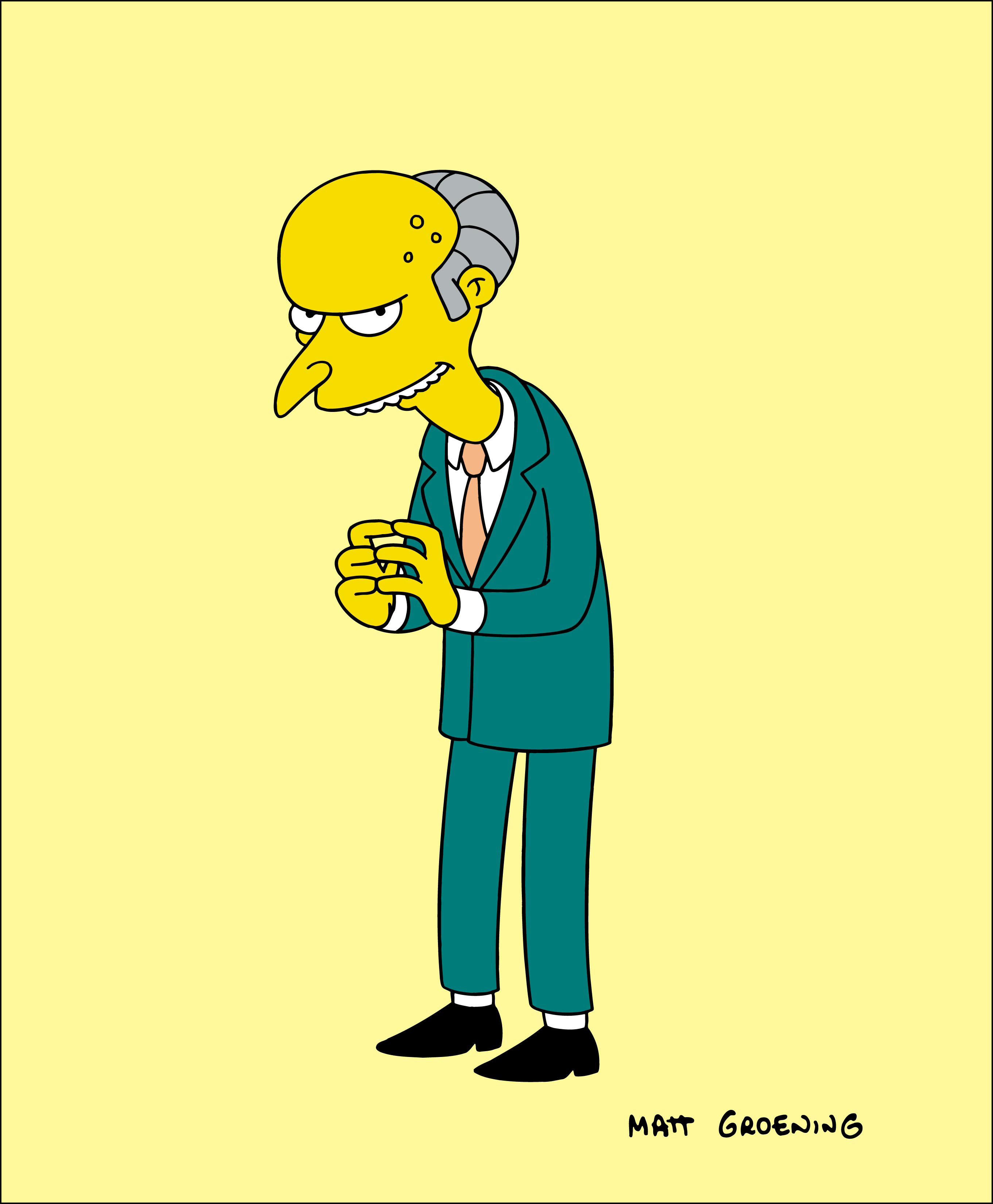 The simpsons montgomery Burns