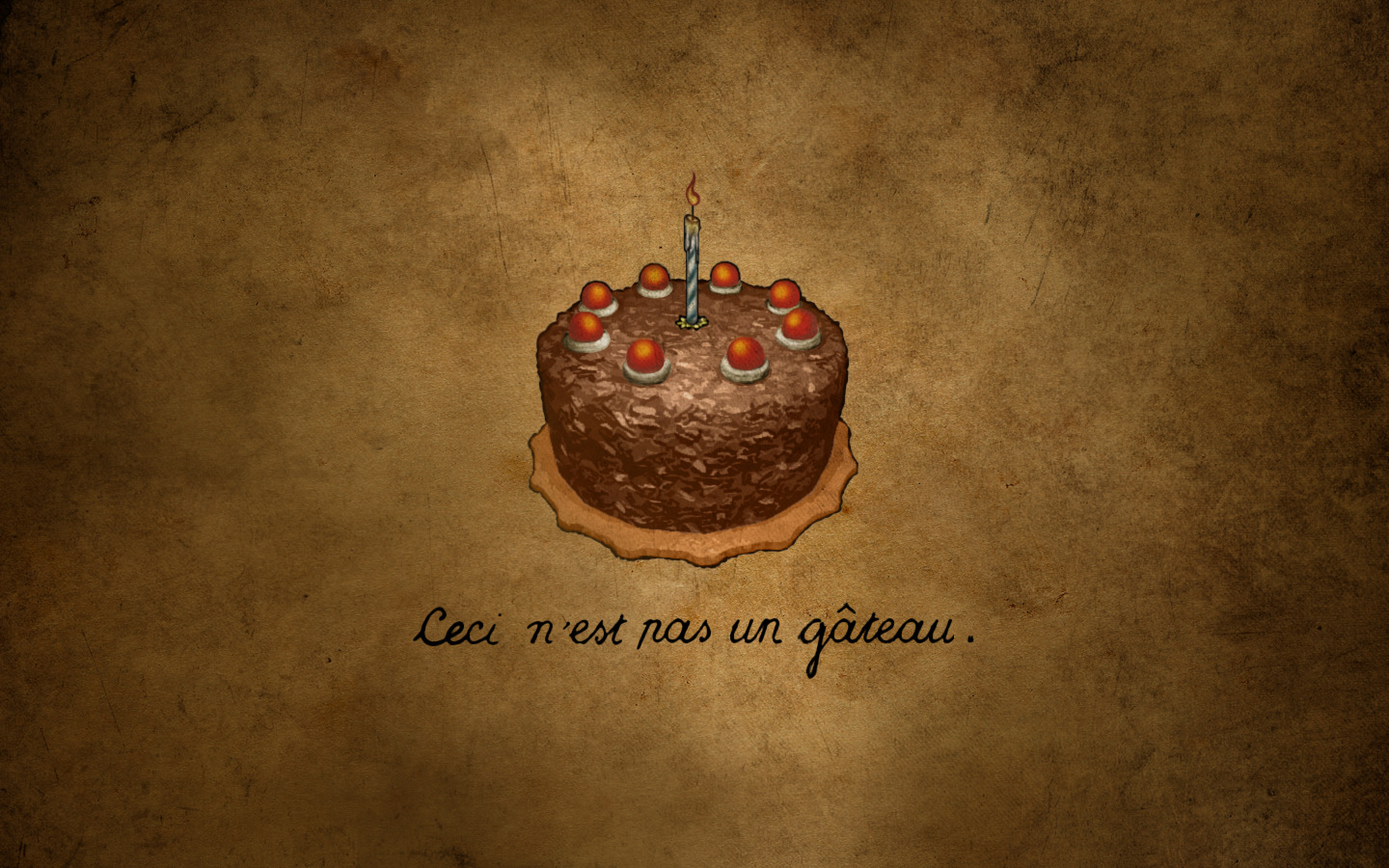 This is not cake HD Wallpaper