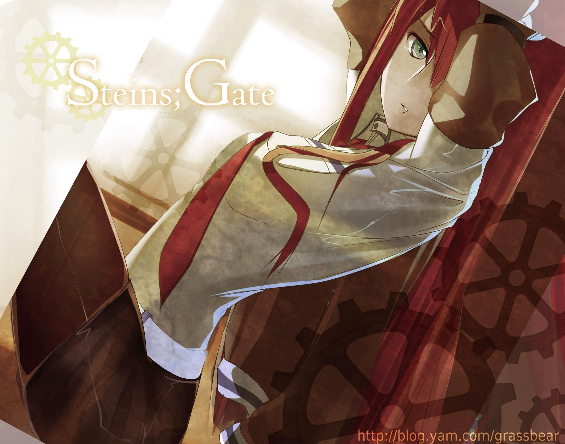 tie steins gate makise HD Wallpaper