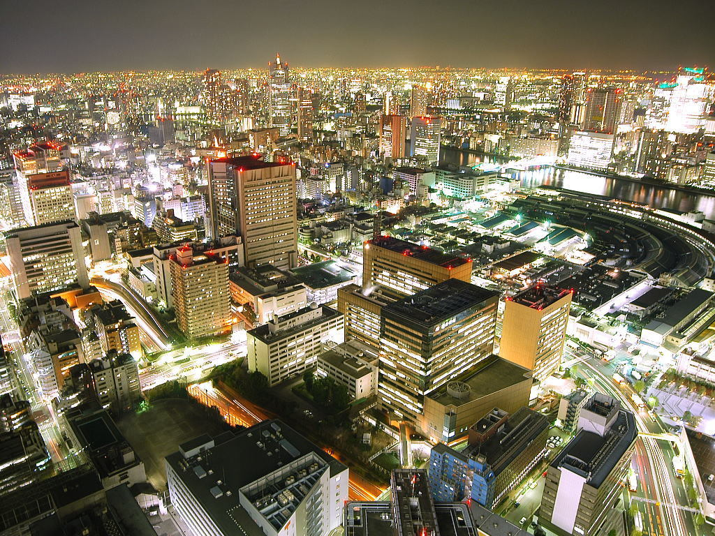 Tokyo City night lights HD Wallpaper
