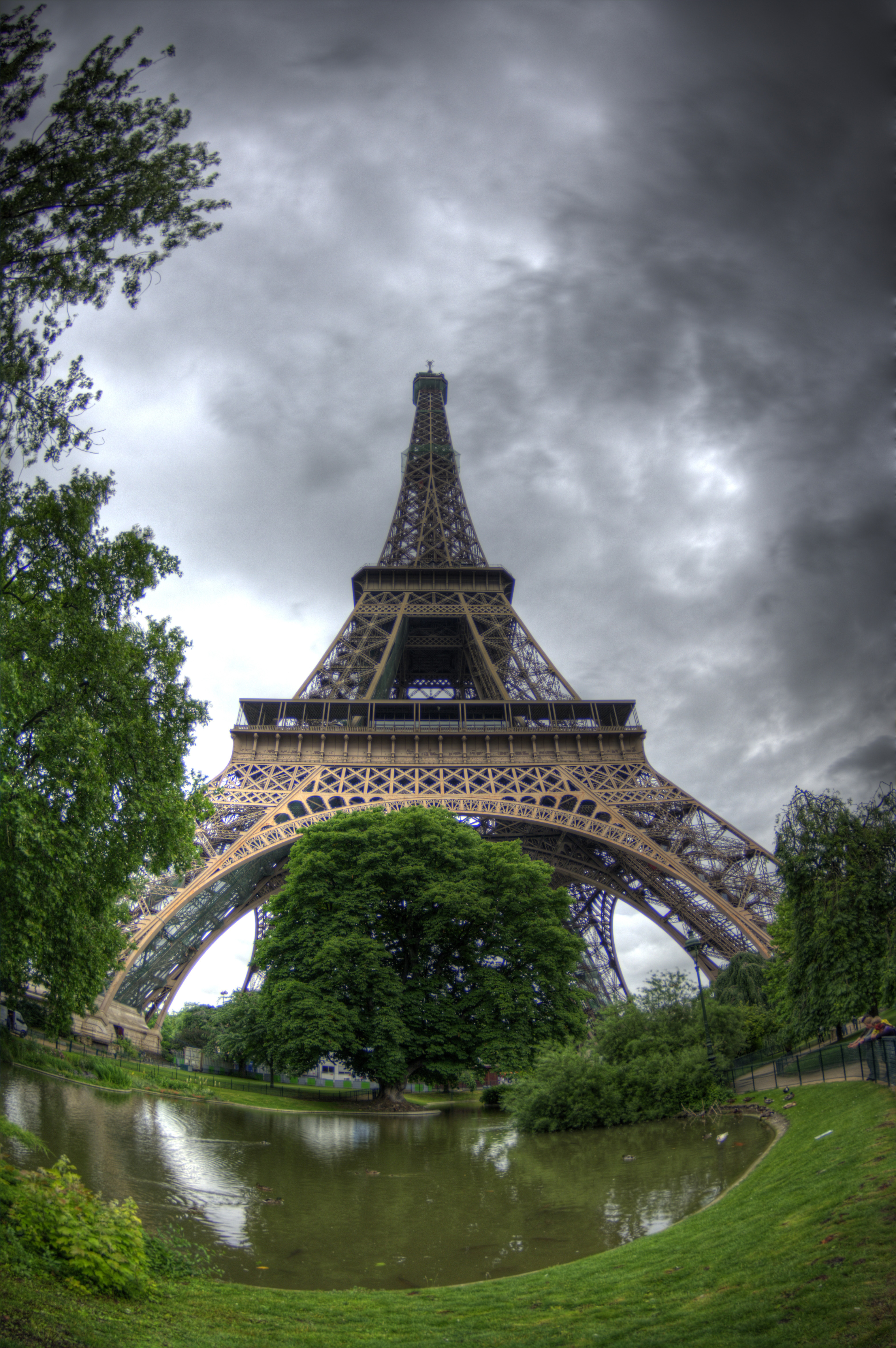 High  Picture Eiffel Tower on That Puts My Eiffel Tower Fisheye Hdr High Resolution Hd Wallpaper