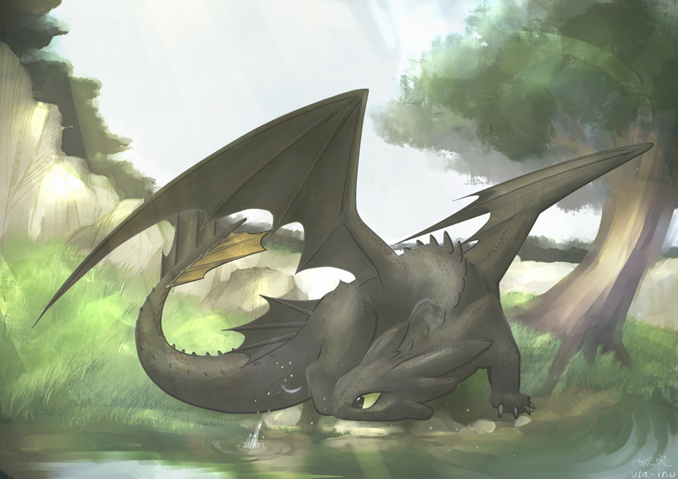toothless how to train HD Wallpaper