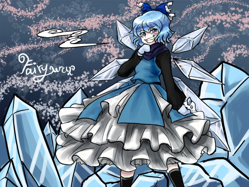 touhou cirno HD Wallpaper