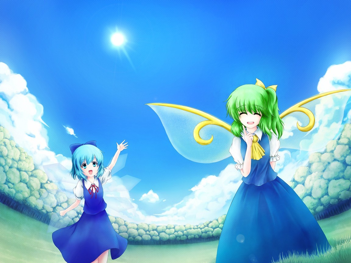 touhou cirno Fairies Daiyousei HD Wallpaper