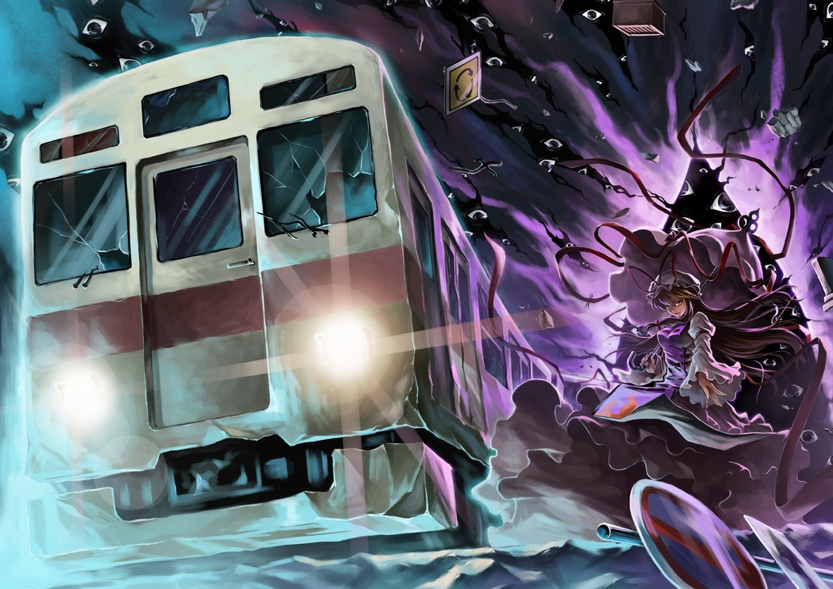 touhou eyes trains yakumo HD Wallpaper