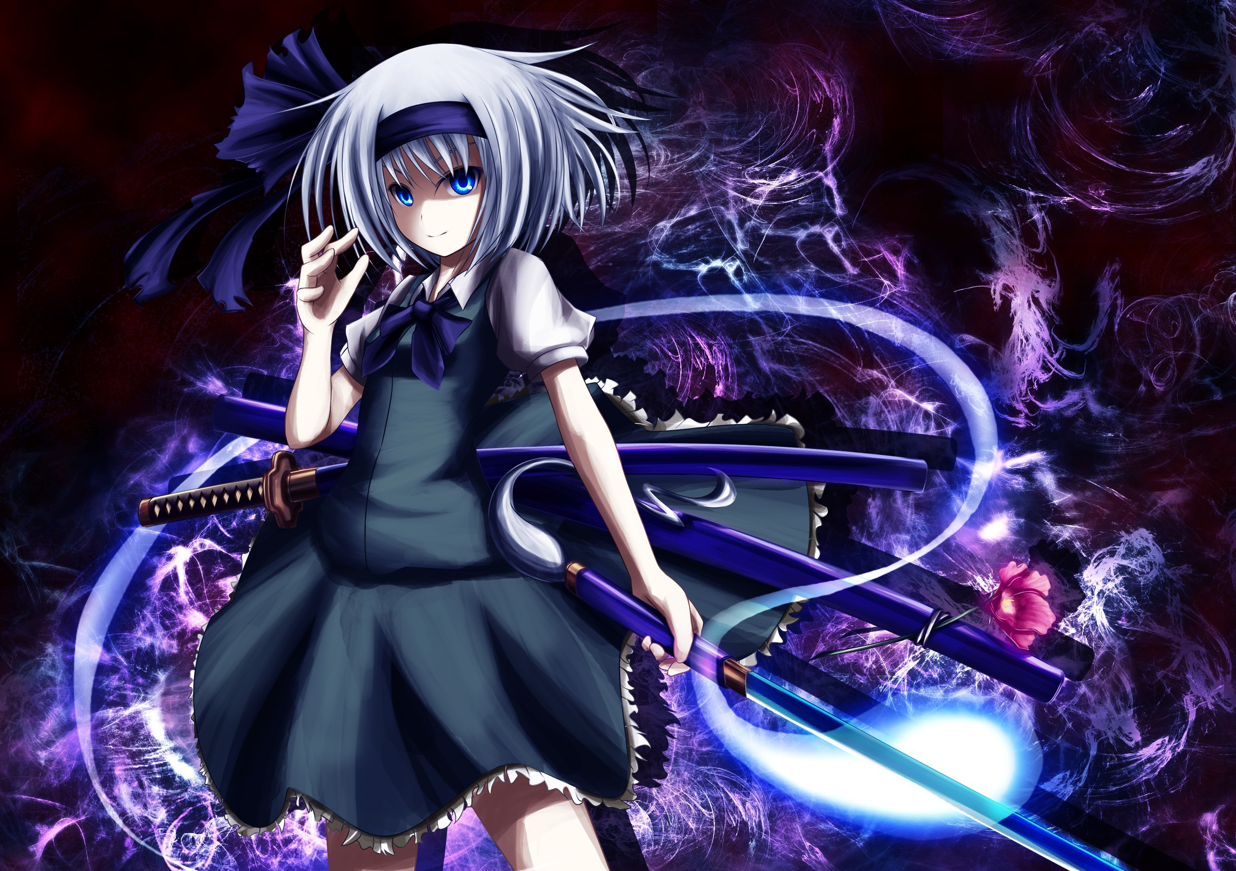 touhou Katana weapons ghosts HD Wallpaper