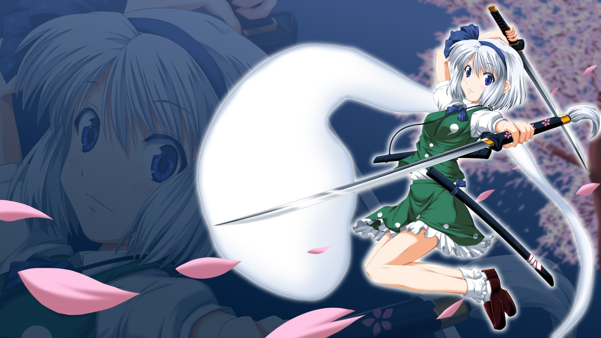 touhou konpaku youmu Swords HD Wallpaper