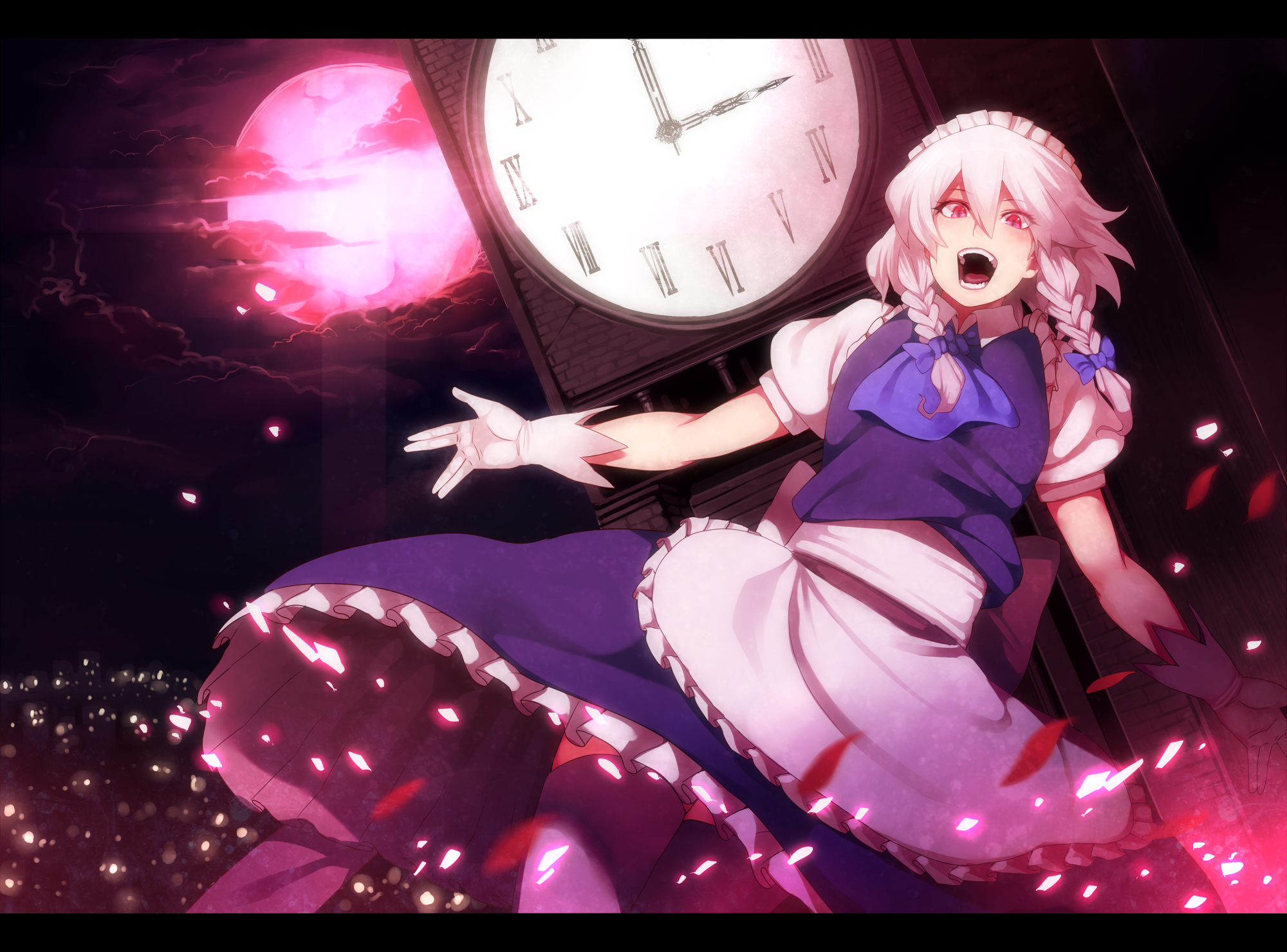 touhou maids clocks izayoi HD Wallpaper