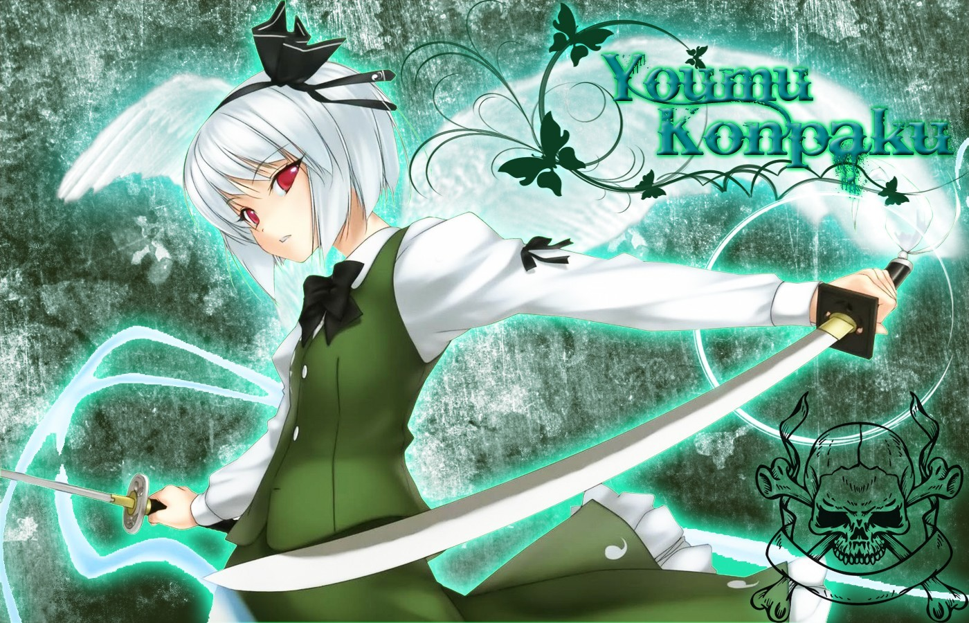 touhou wings weapons konpaku HD Wallpaper