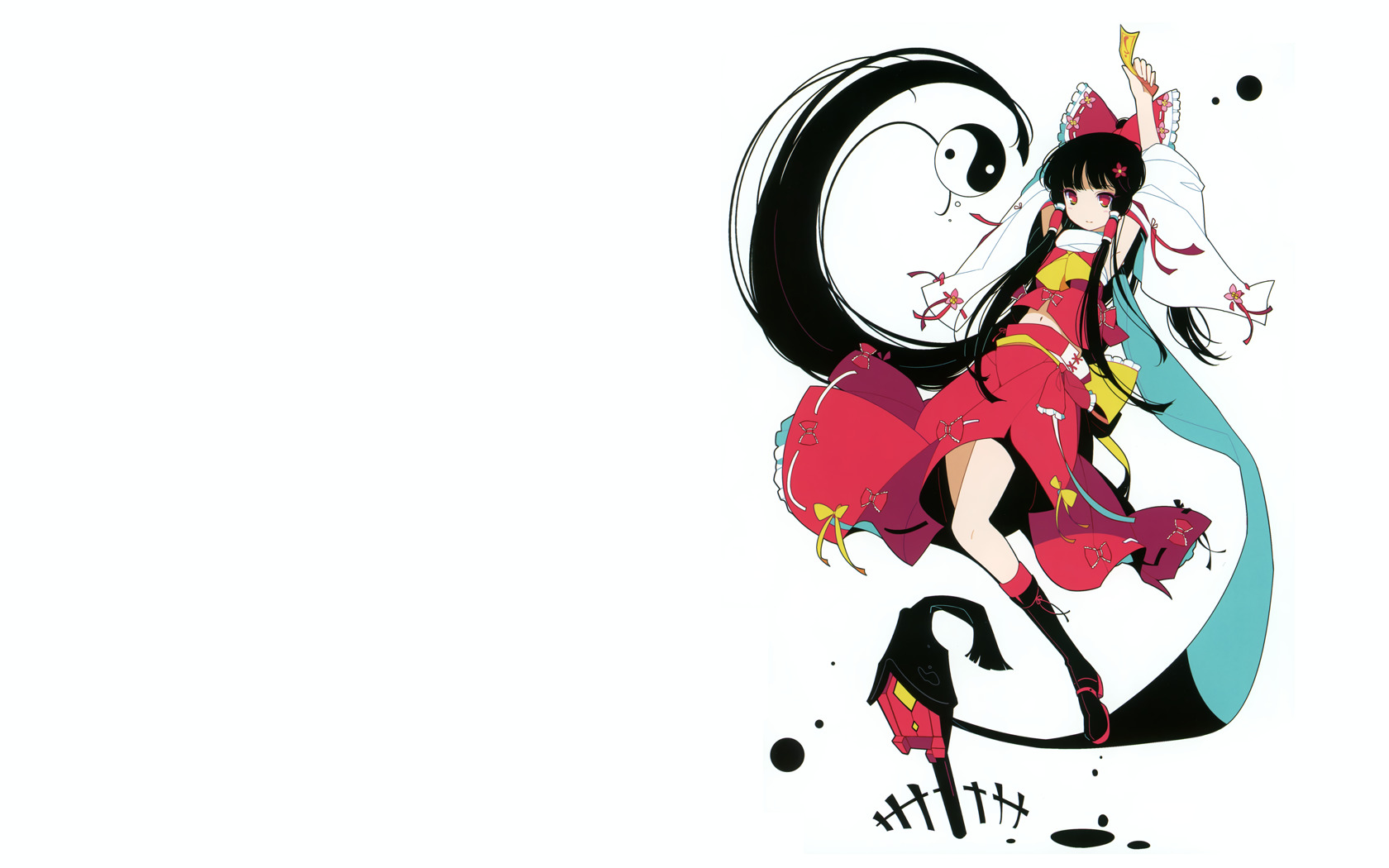 touhou yin yang hakurei HD Wallpaper